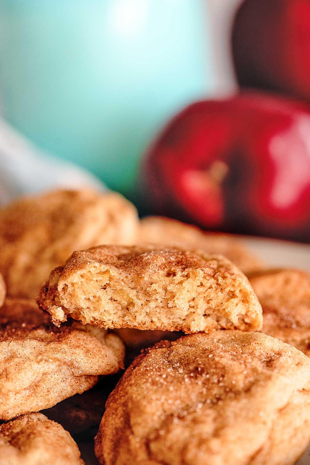 apple cookies inside