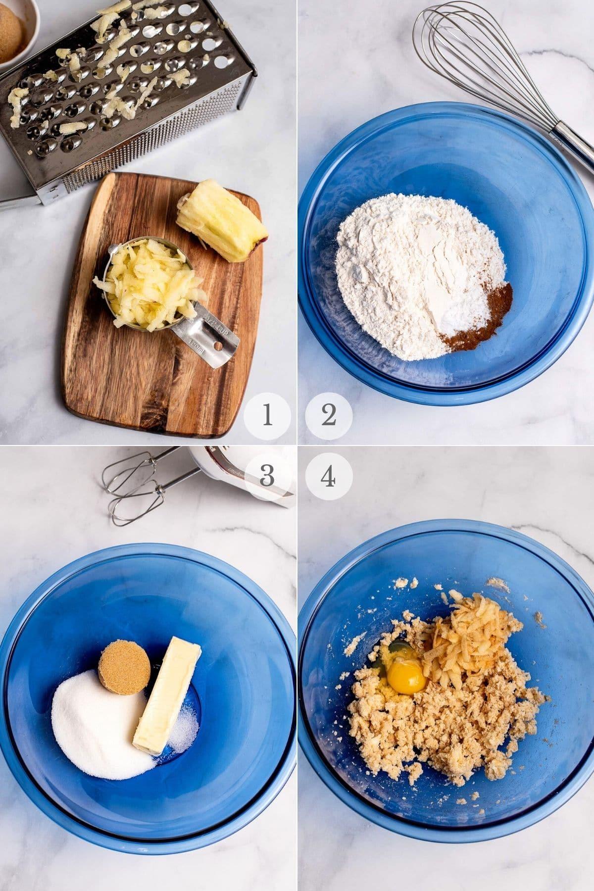 apple cookies recipe steps 1-4