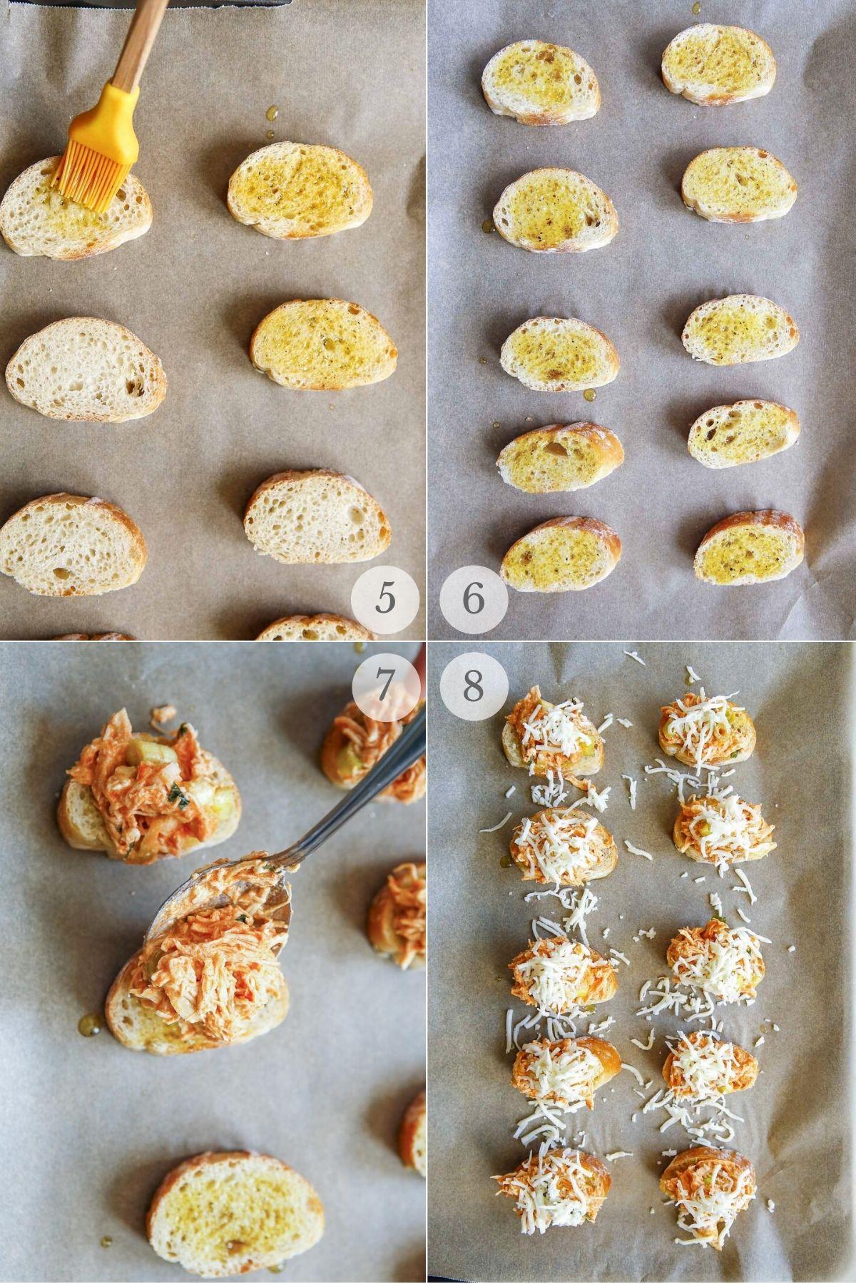 buffalo chicken crostini recipe steps 5-8
