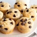 chocolate chip muffins recipe title