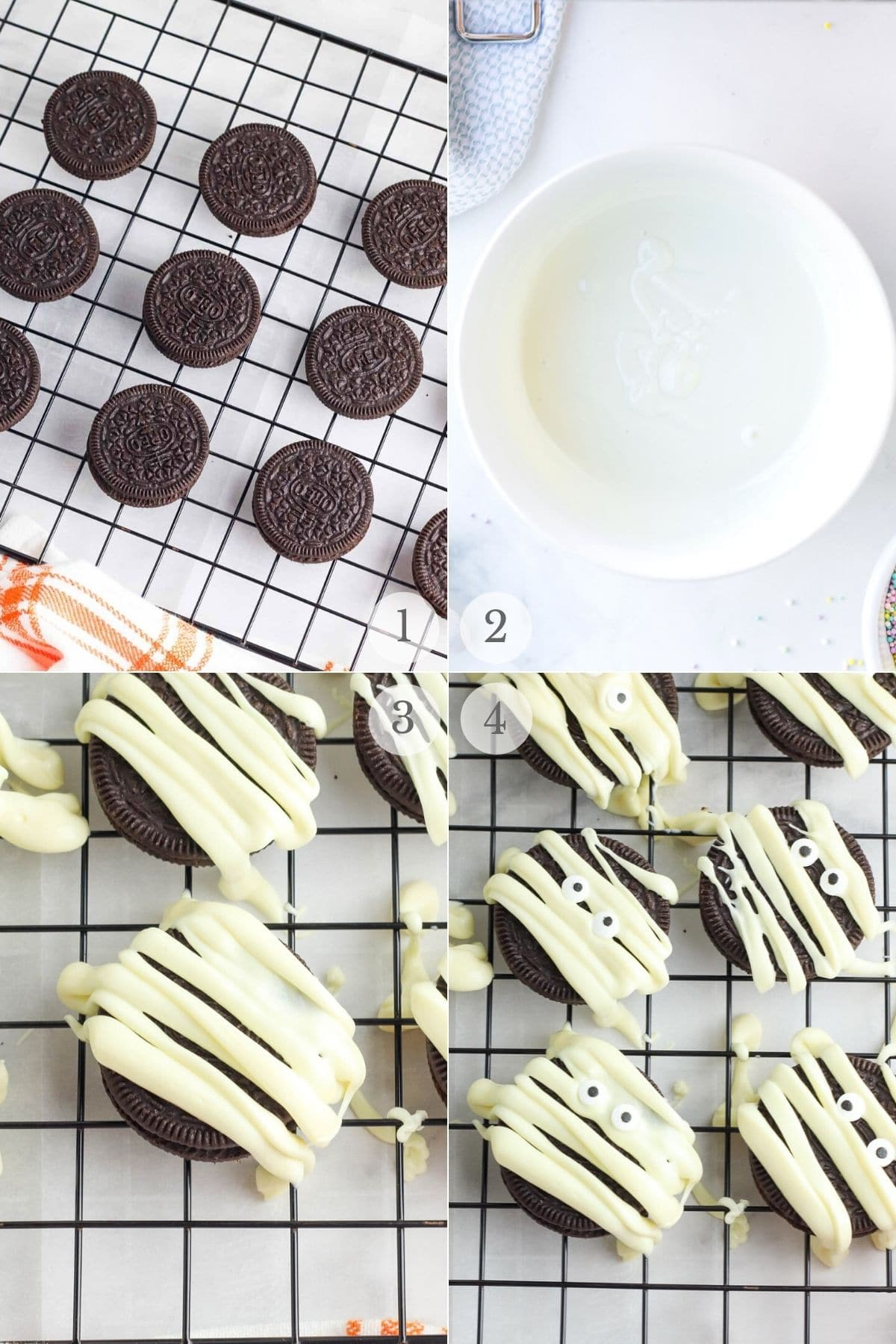 halloween cookies recipe steps 1-4