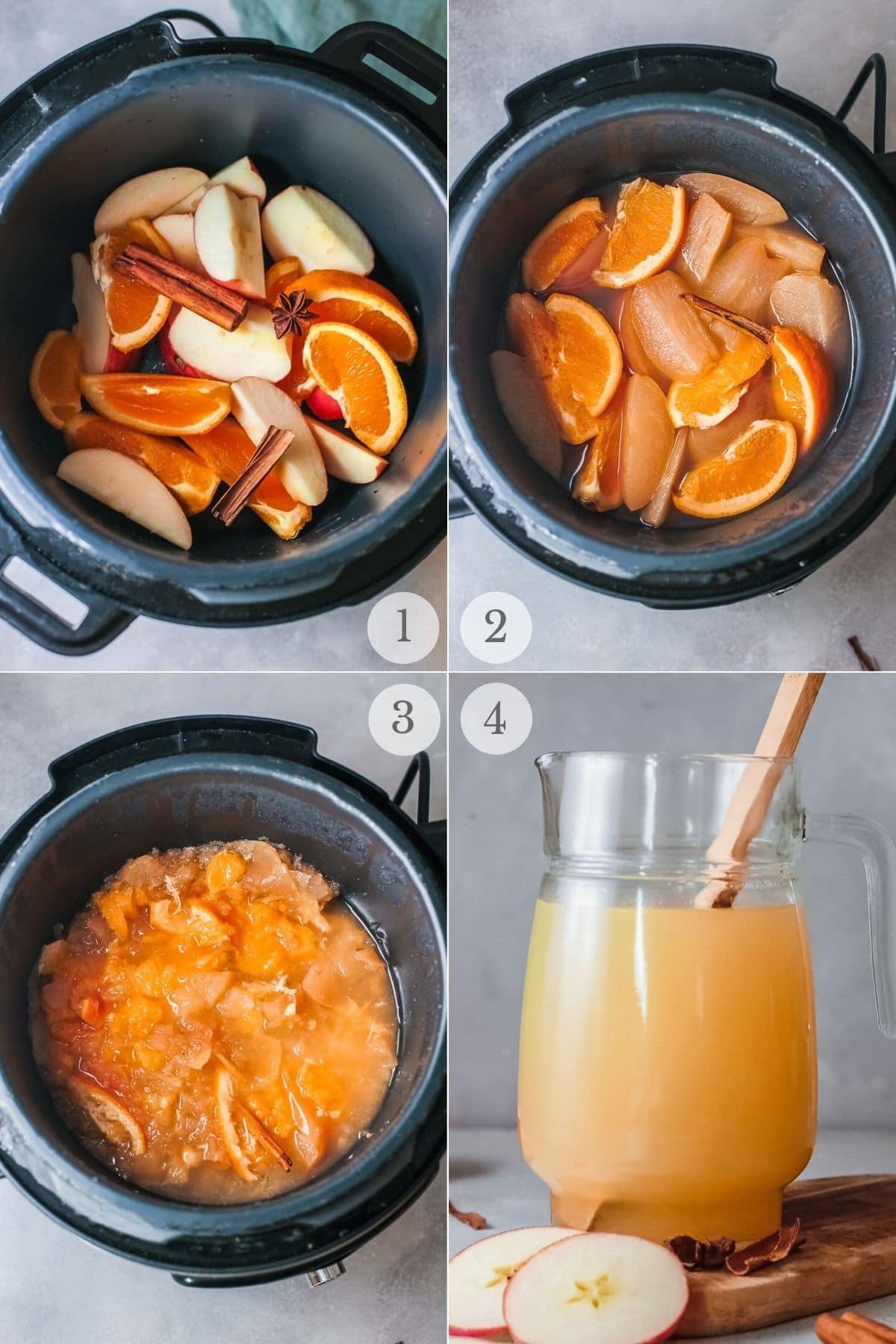 homemade apple cider recipe steps 1-4