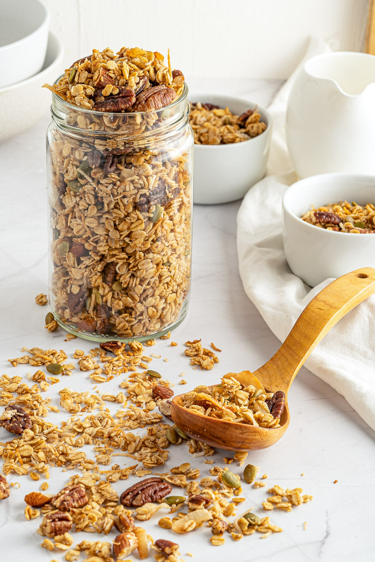 homemade granola jar SIDE EDITED