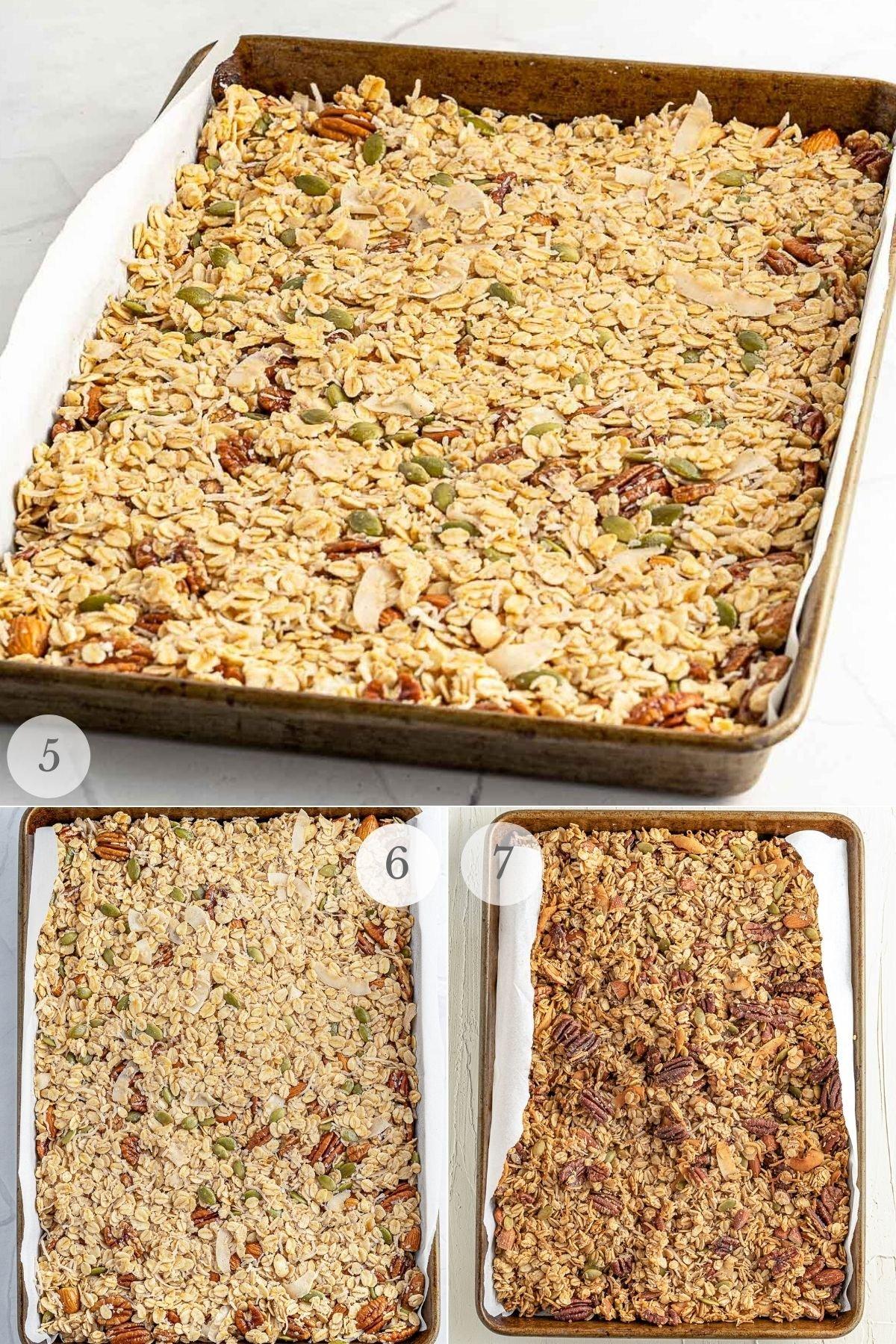 homemade granola recipe steps 5-7