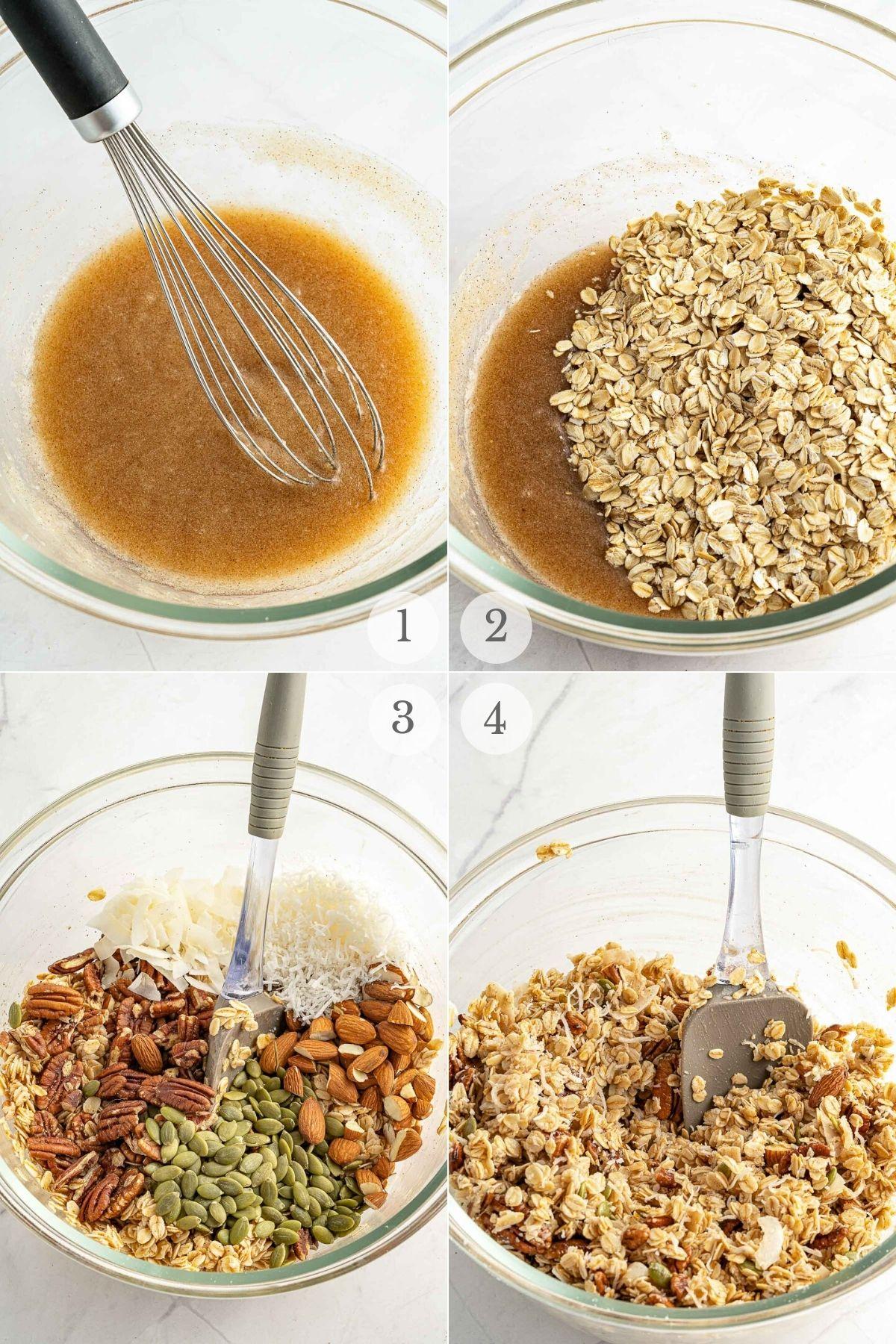 homemade granola recipes steps 1-4