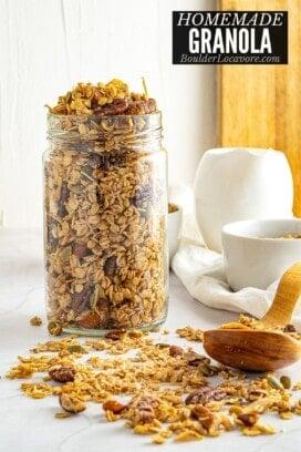 homemade granola title image
