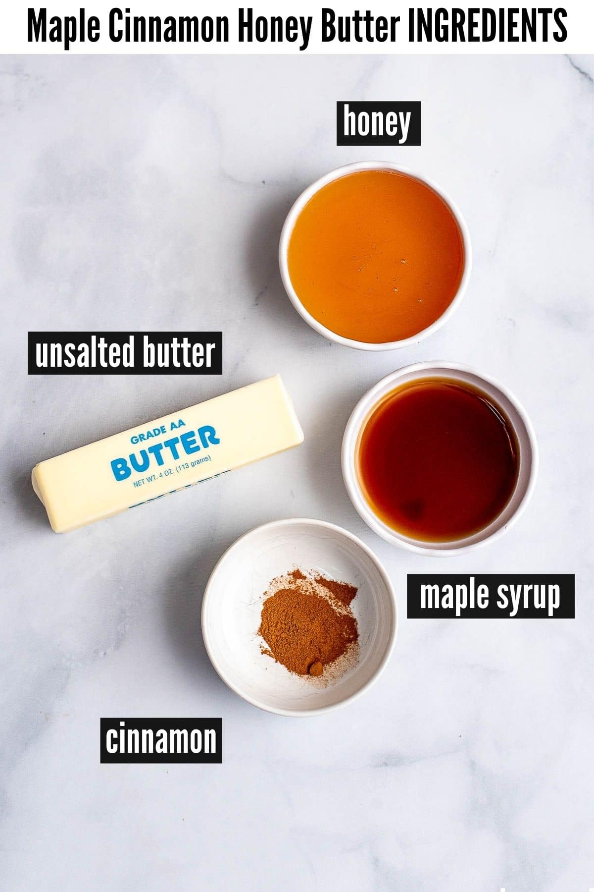 honey butter labelled ingredients