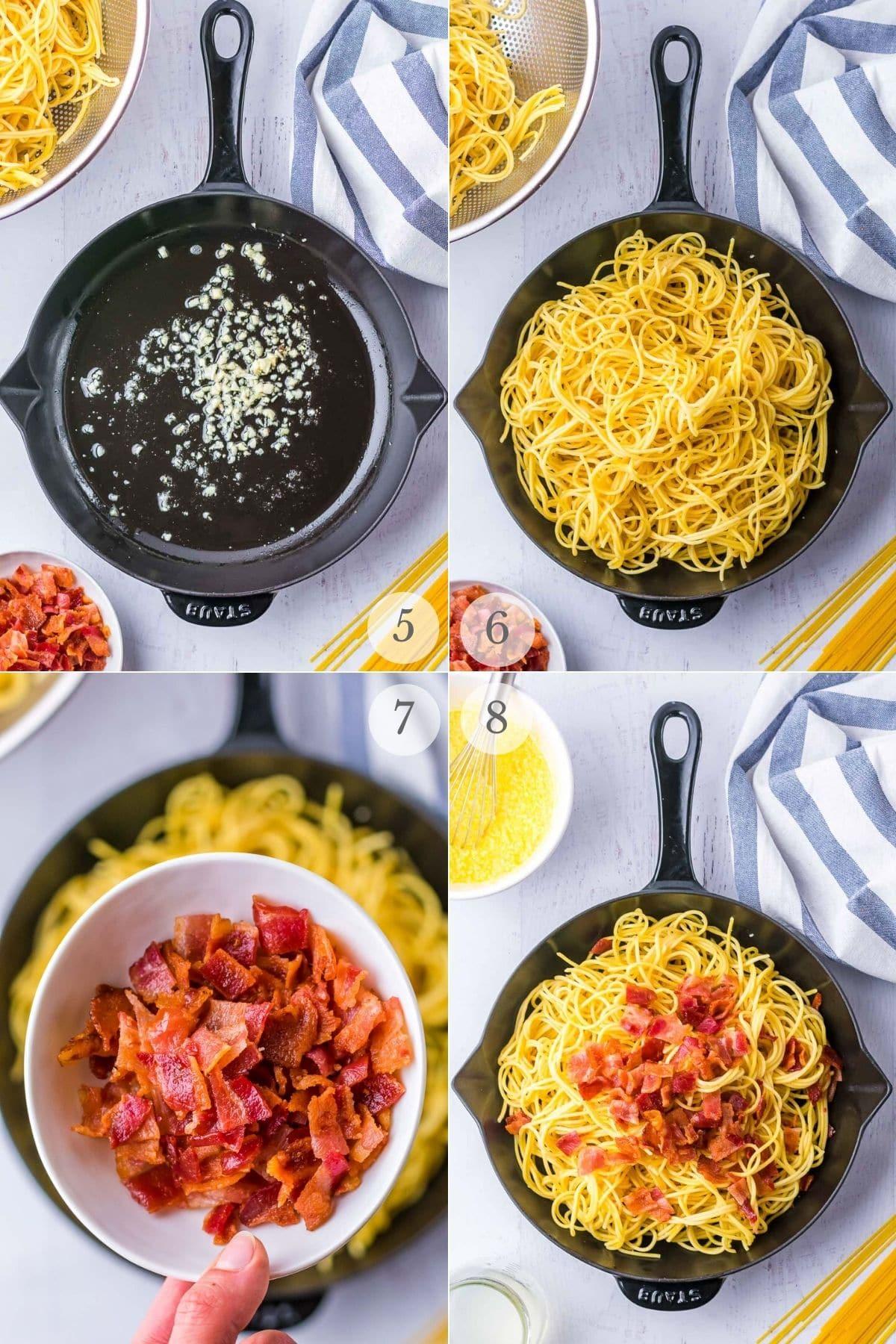 spaghetti carbonara recipe steps 5-8