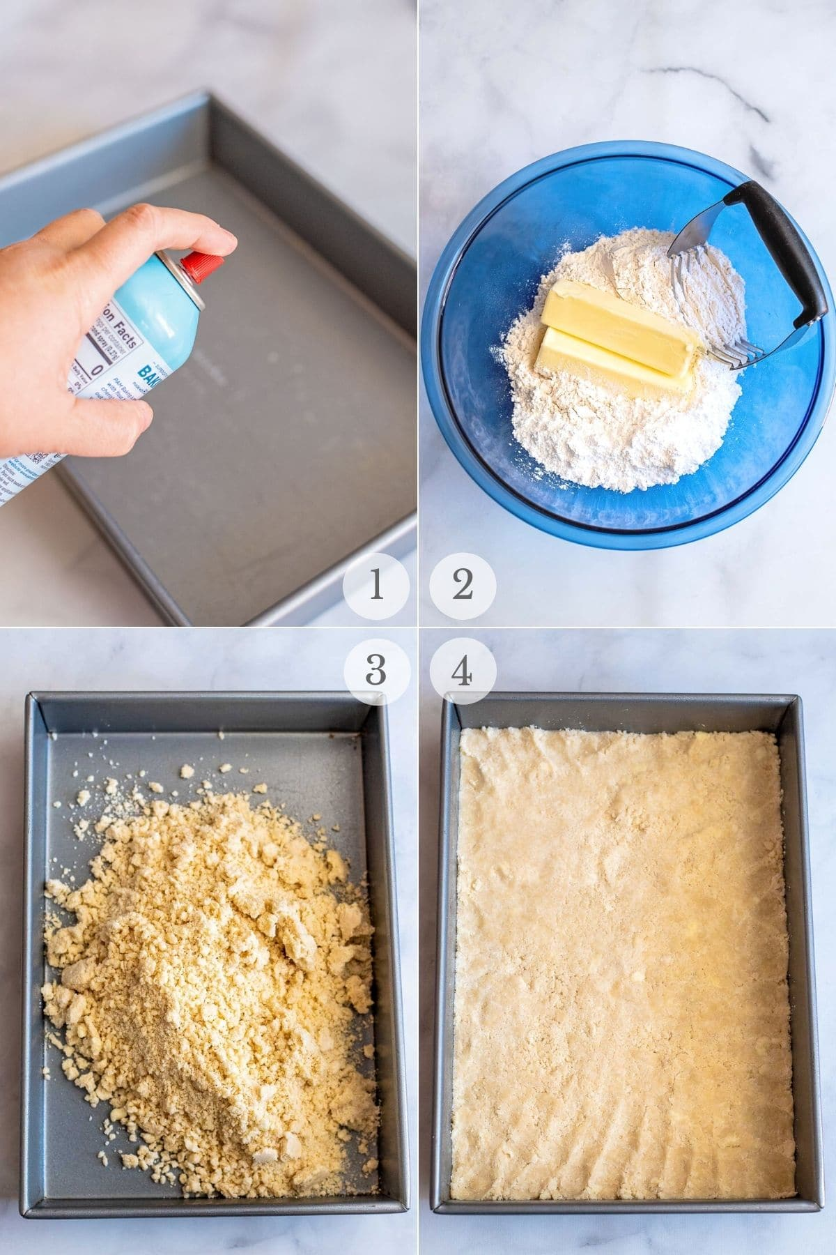 pumpkin cheesecake bars recipe steps 1-4