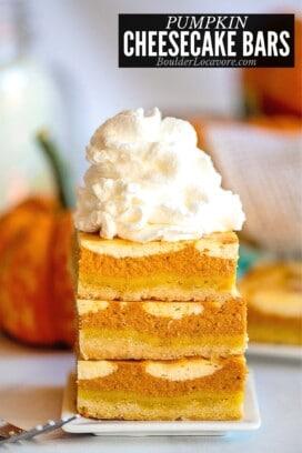 pumpkin cheesecake bars title image