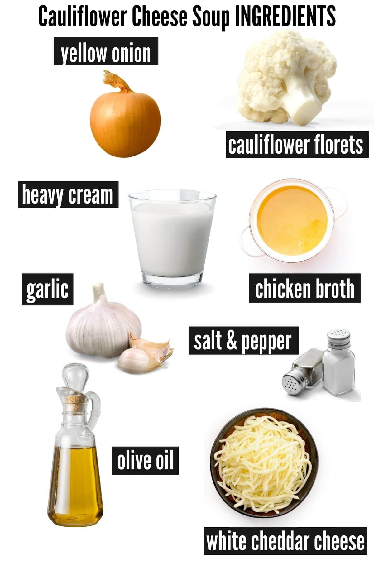 cauliflower cheese soup ingredients