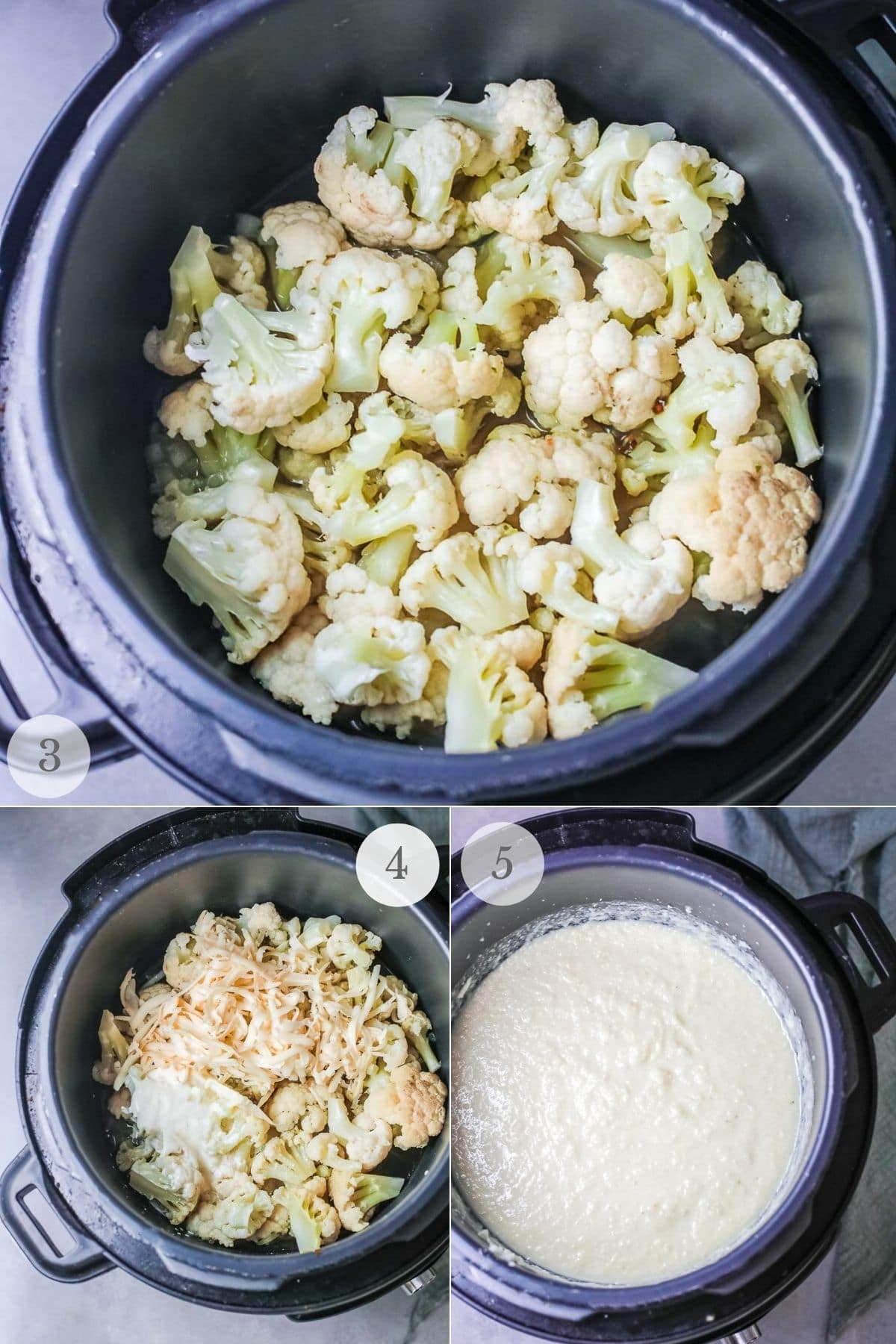 cauliflower cheese soup recipe steps 3-5
