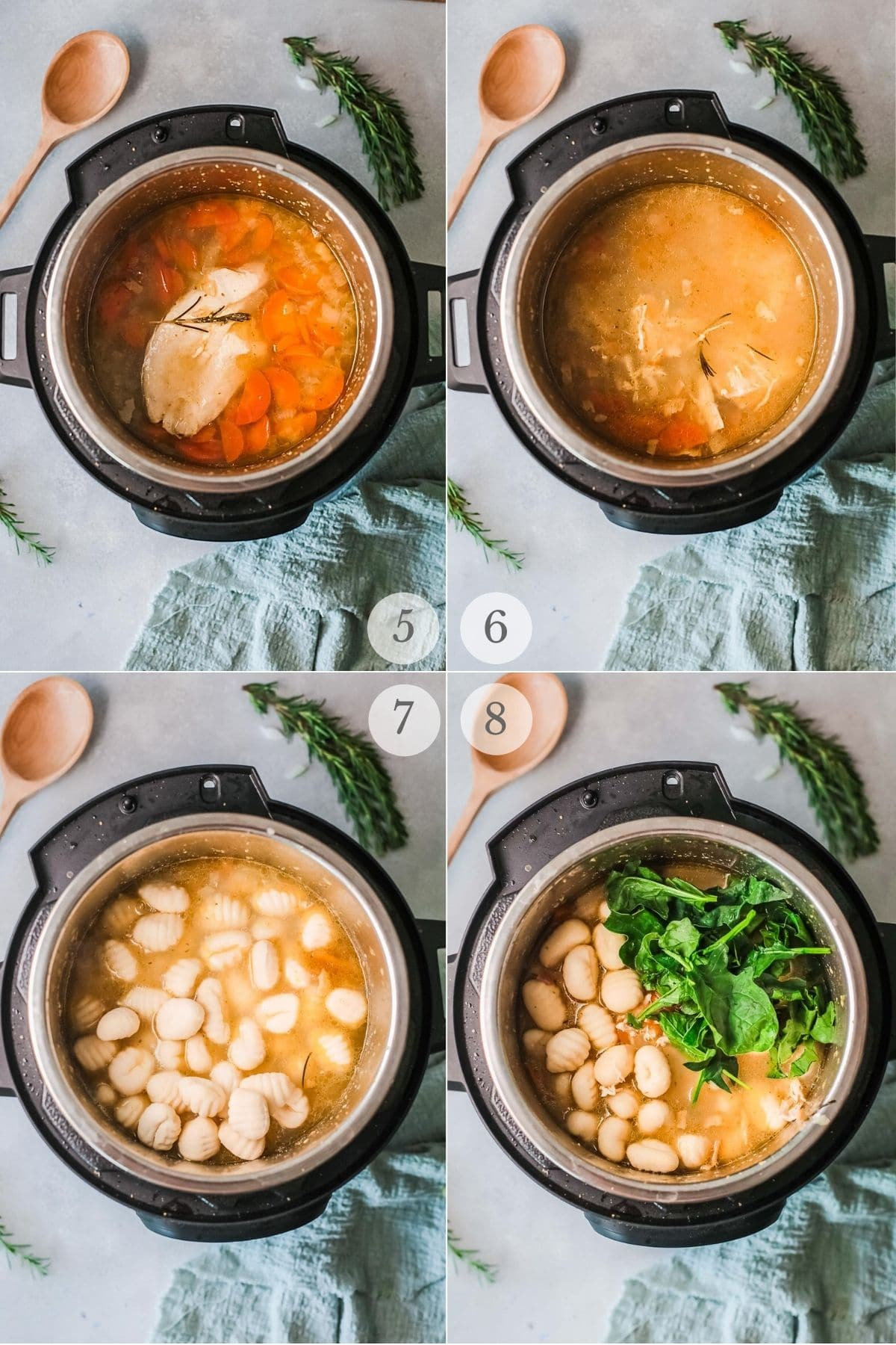 chicken gnocchi soup recipe steps 5-8