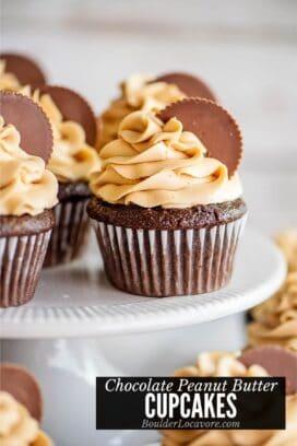 PEANUT BUTTER CHOCOLATE CUPCAKES TITLE