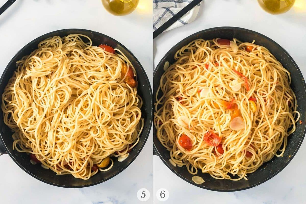 Spaghetti Aglio e Olio recipe steps 5-6