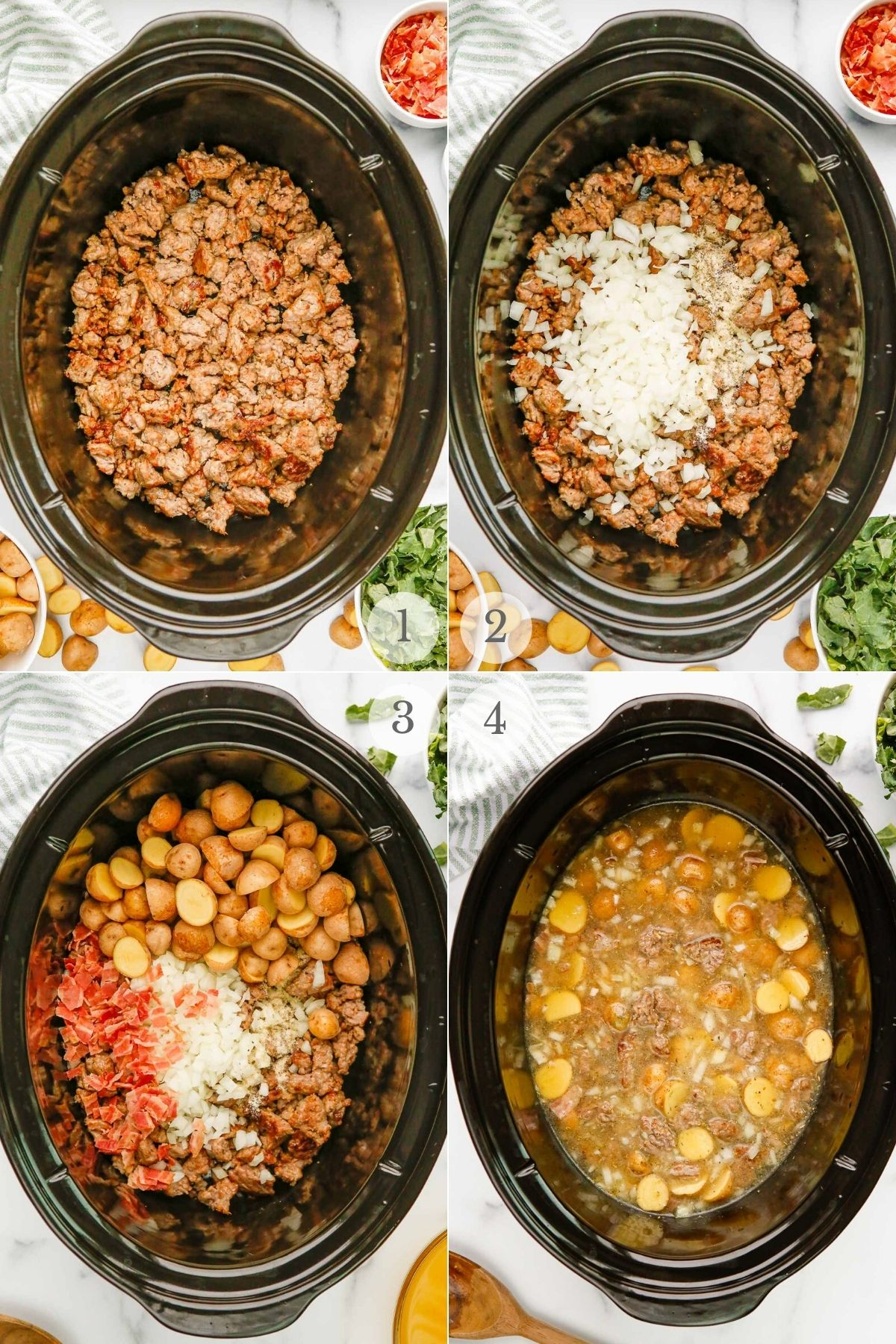Zuppa Toscana recipe steps 1-4