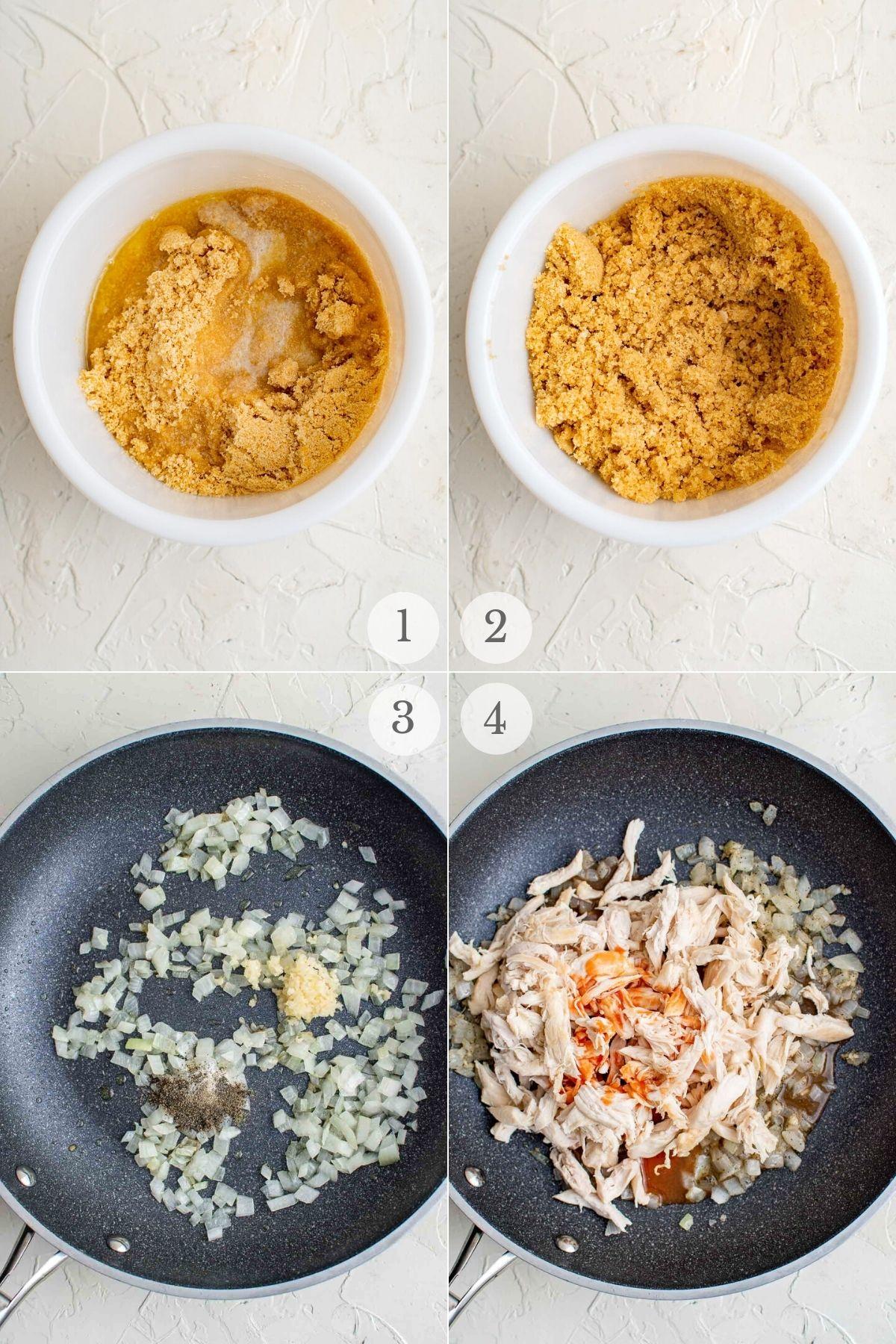 buffalo chicken pasta recipe steps 1-4