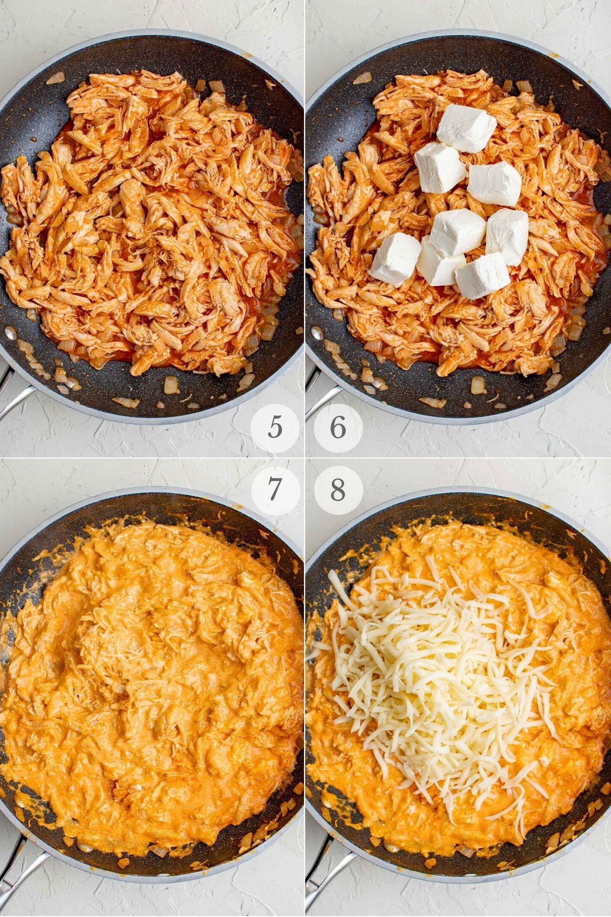 buffalo chicken pasta recipe steps 5-8