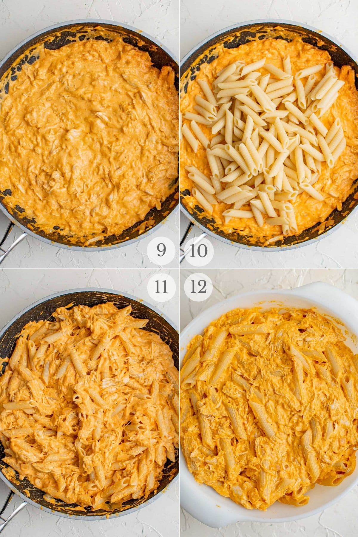 buffalo chicken pasta recipe steps 9-12