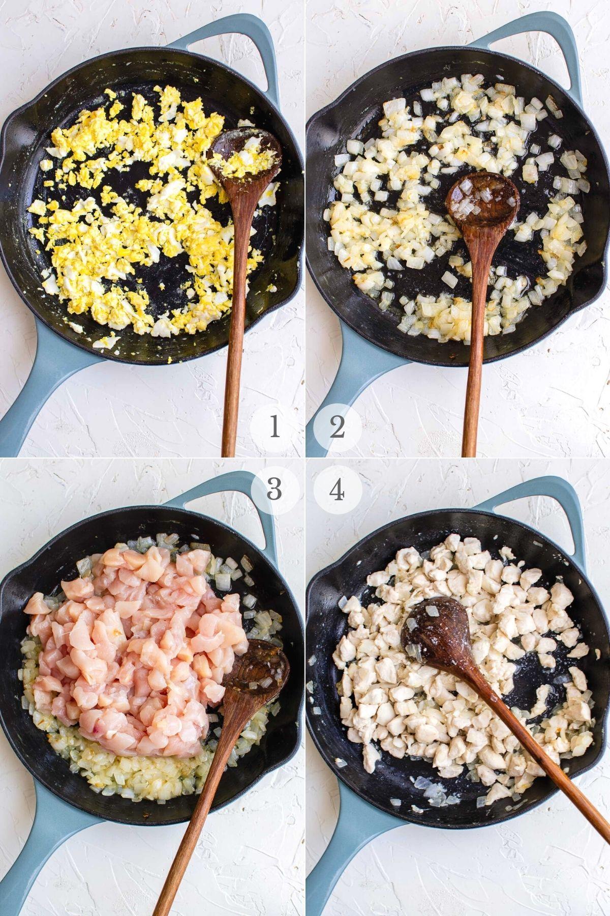 chicken pad thai recipes steps 1-4