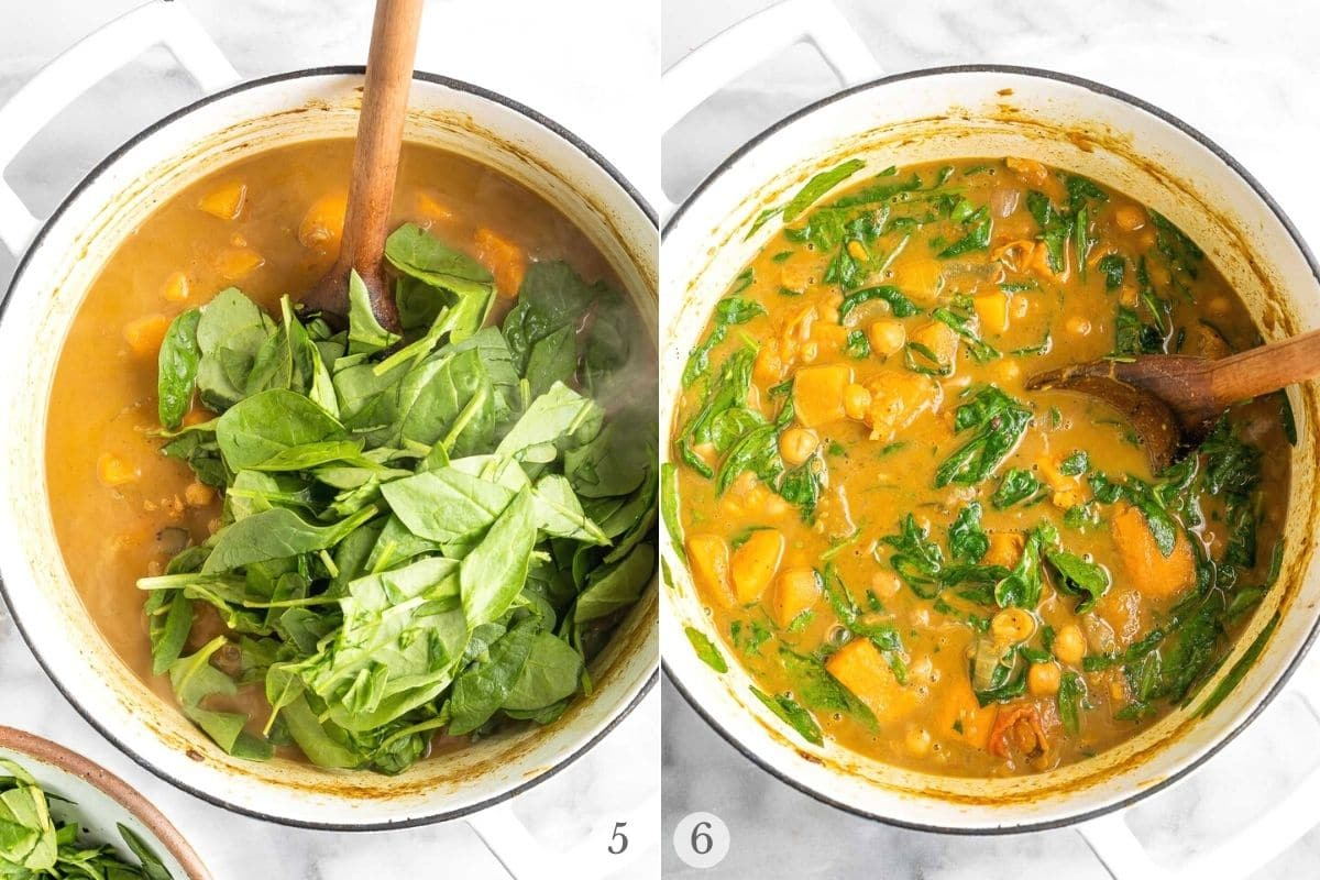 chickpea curry recipe steps 5-6