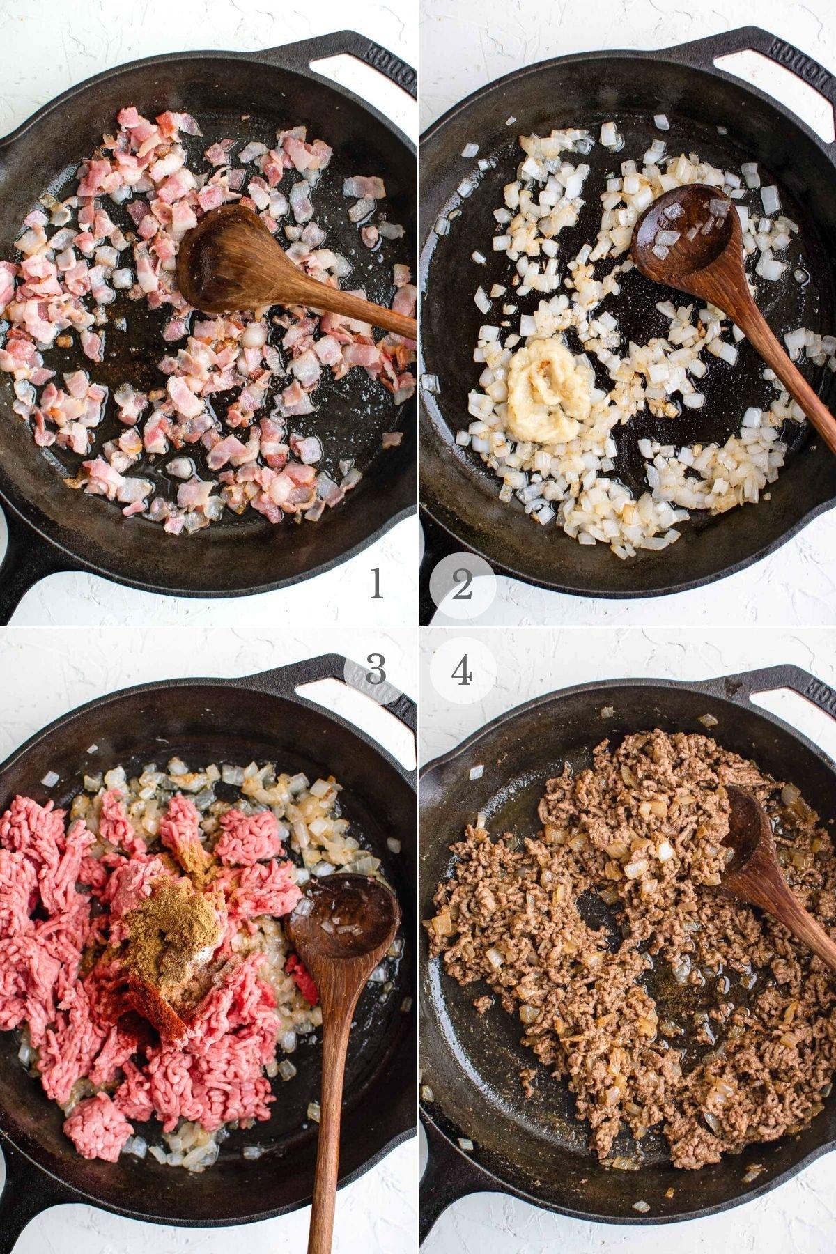 cowboy casserole recipe steps 1-4