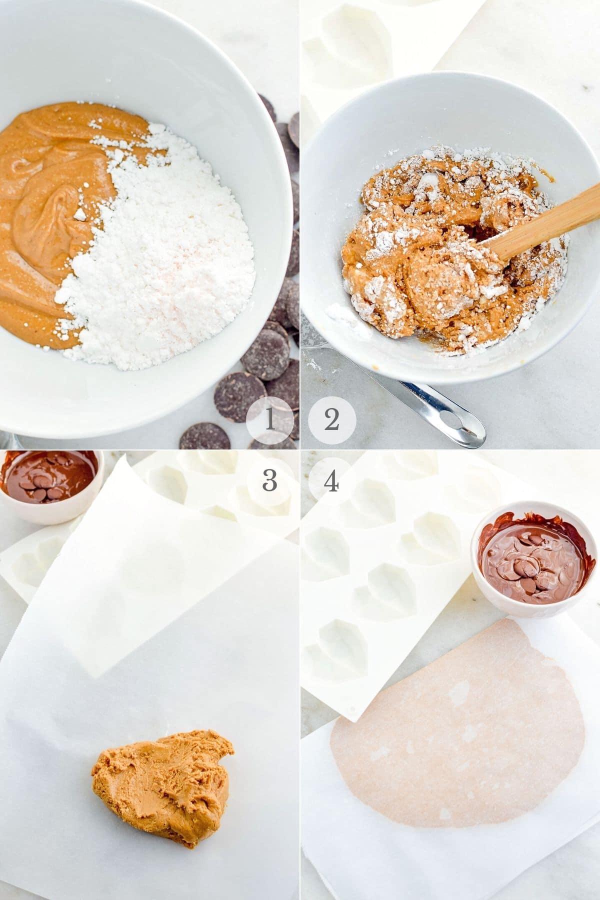 homemade peanut butter cups recipes steps 1-4