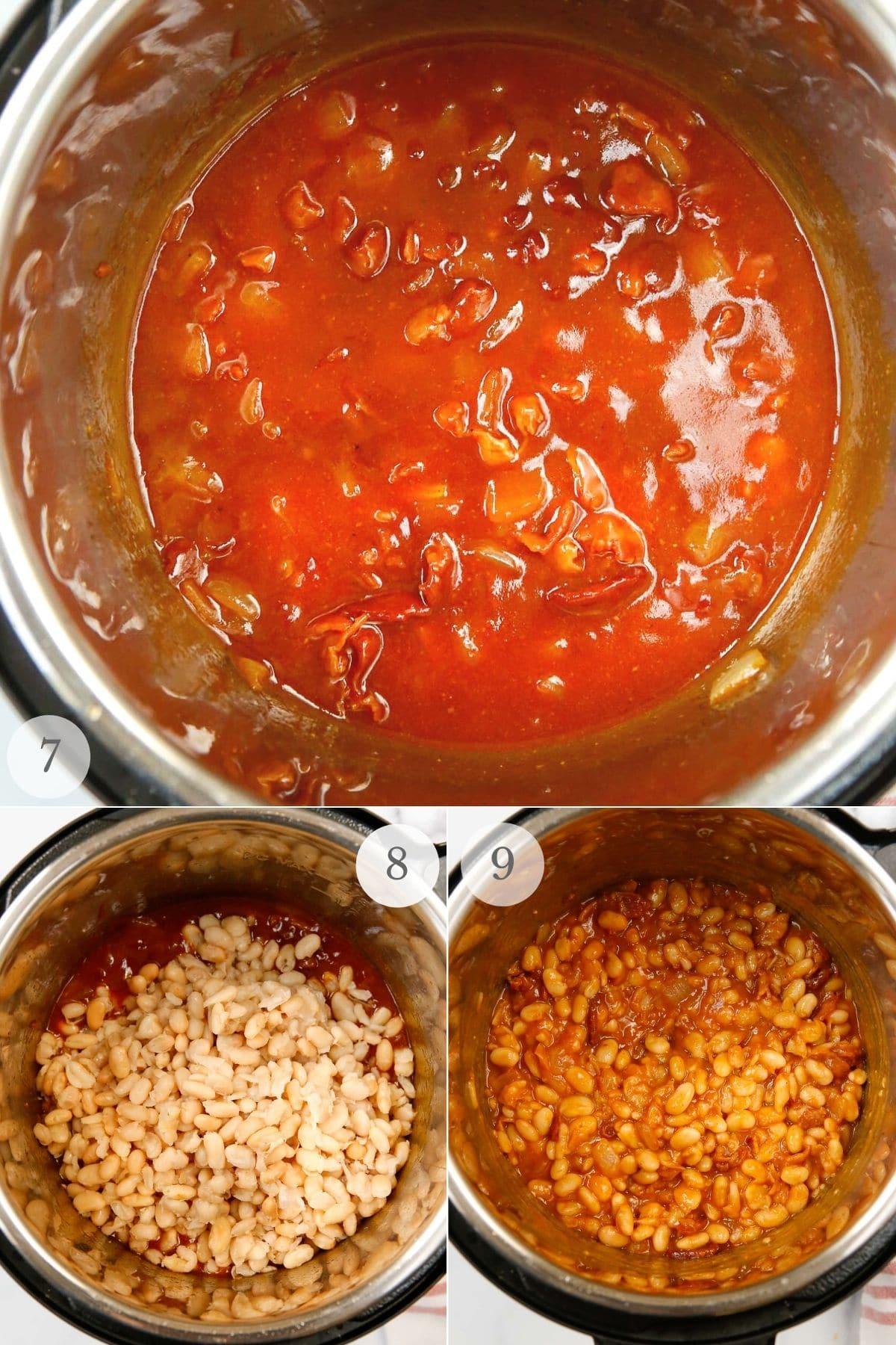 instant pot baked beans recipe steps 7-9