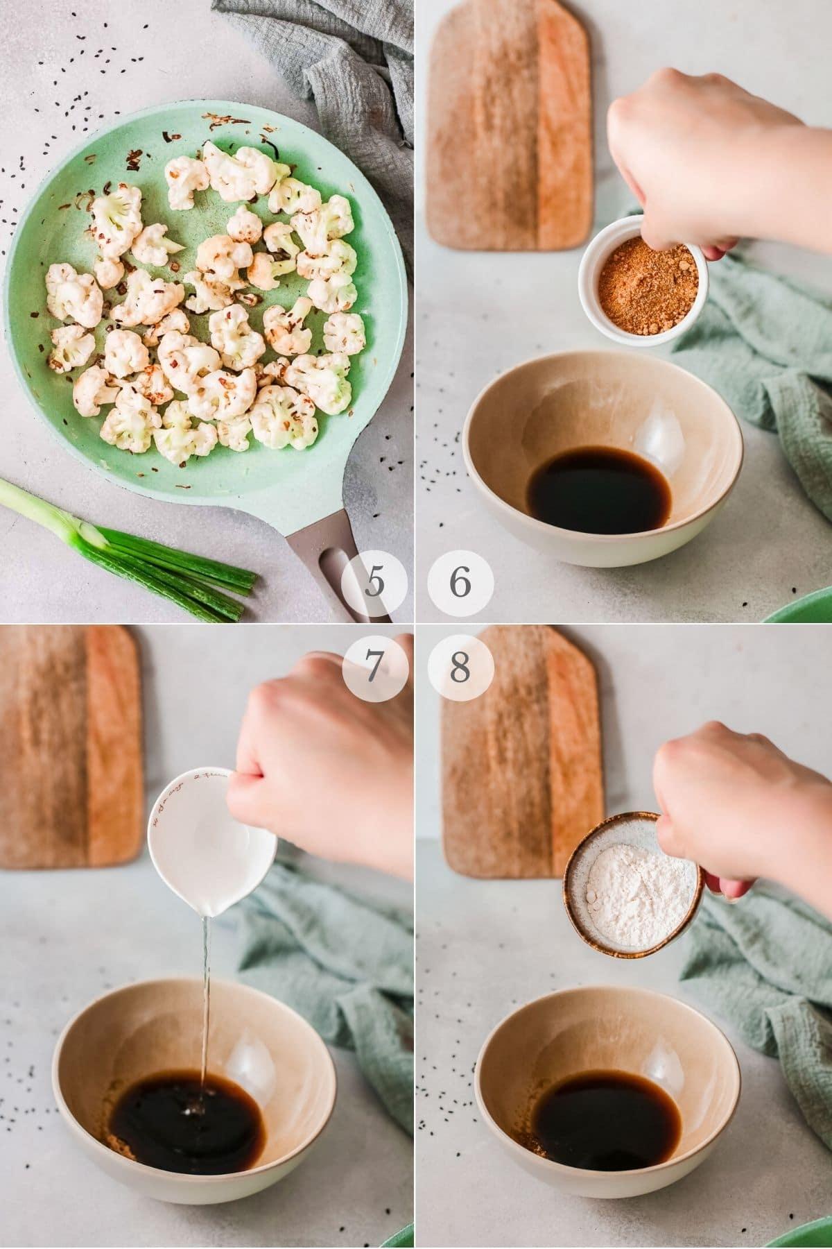 korean bbq cauliflower recipe steps 5-8
