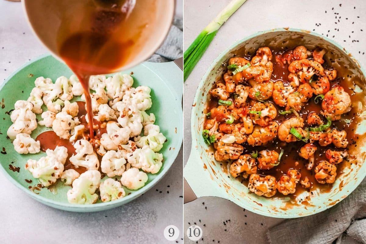 korean bbq cauliflower recipe steps 9-10