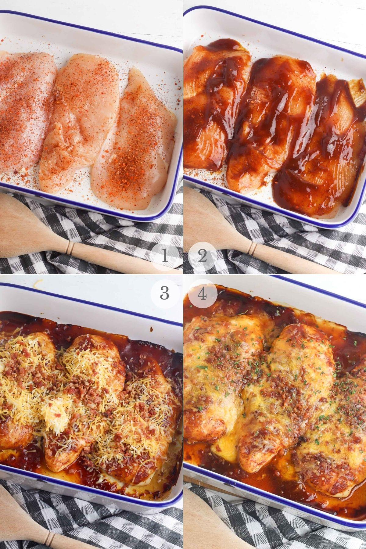 monterey chicken recipe steps 1-4