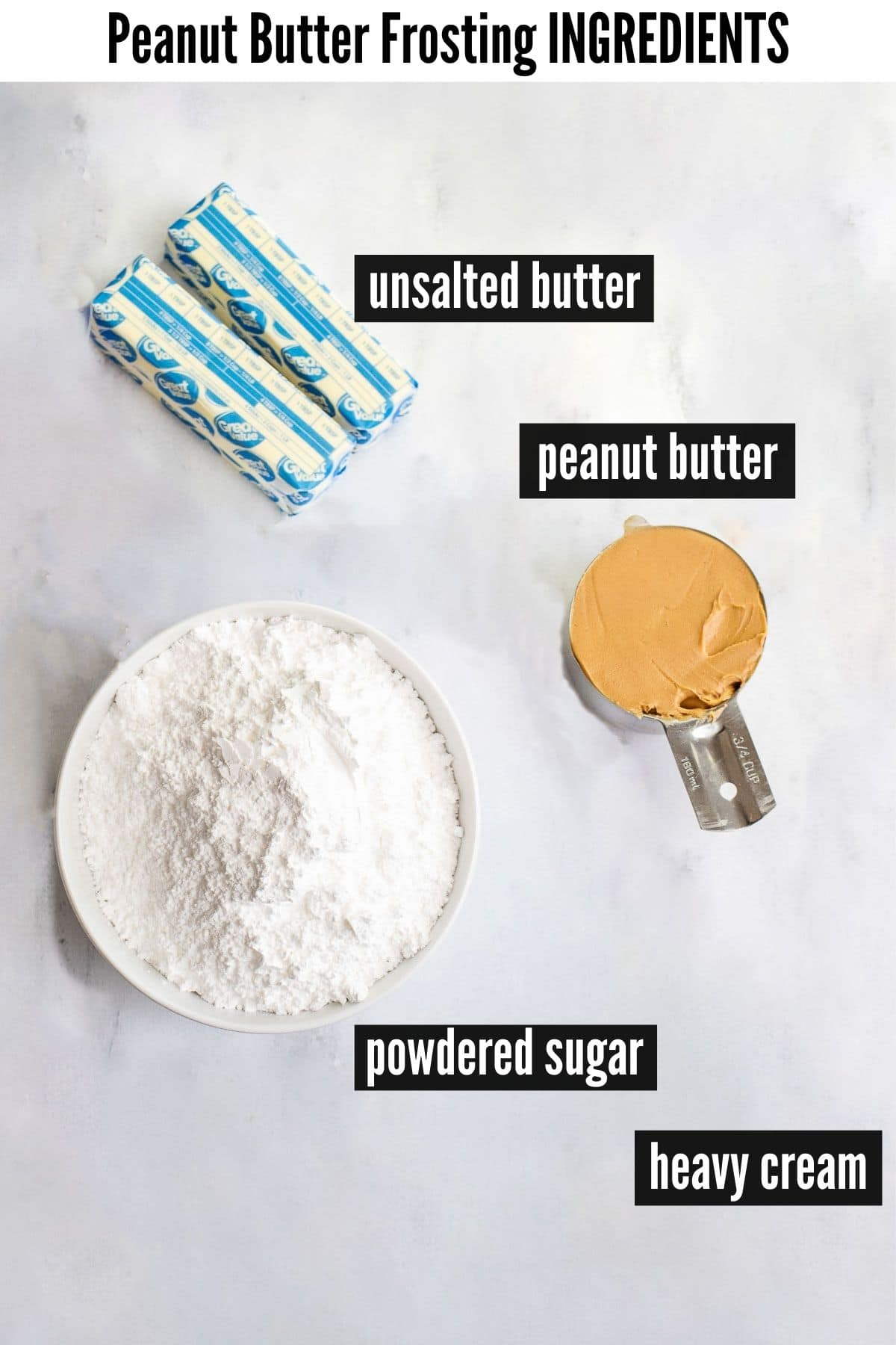peanut butter frosting ingredients