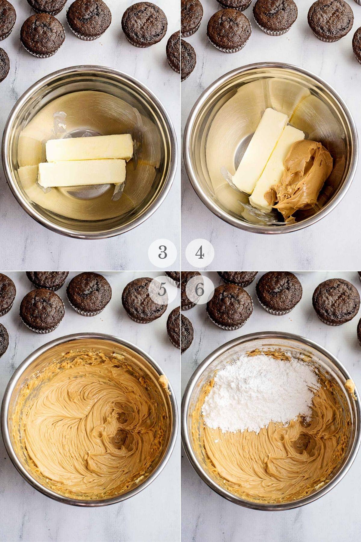 peanut butter frosting recipe steps 1-4