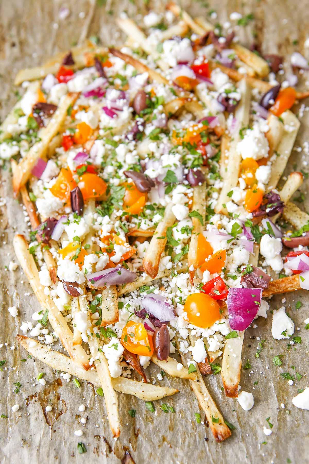 prepared Greek fries