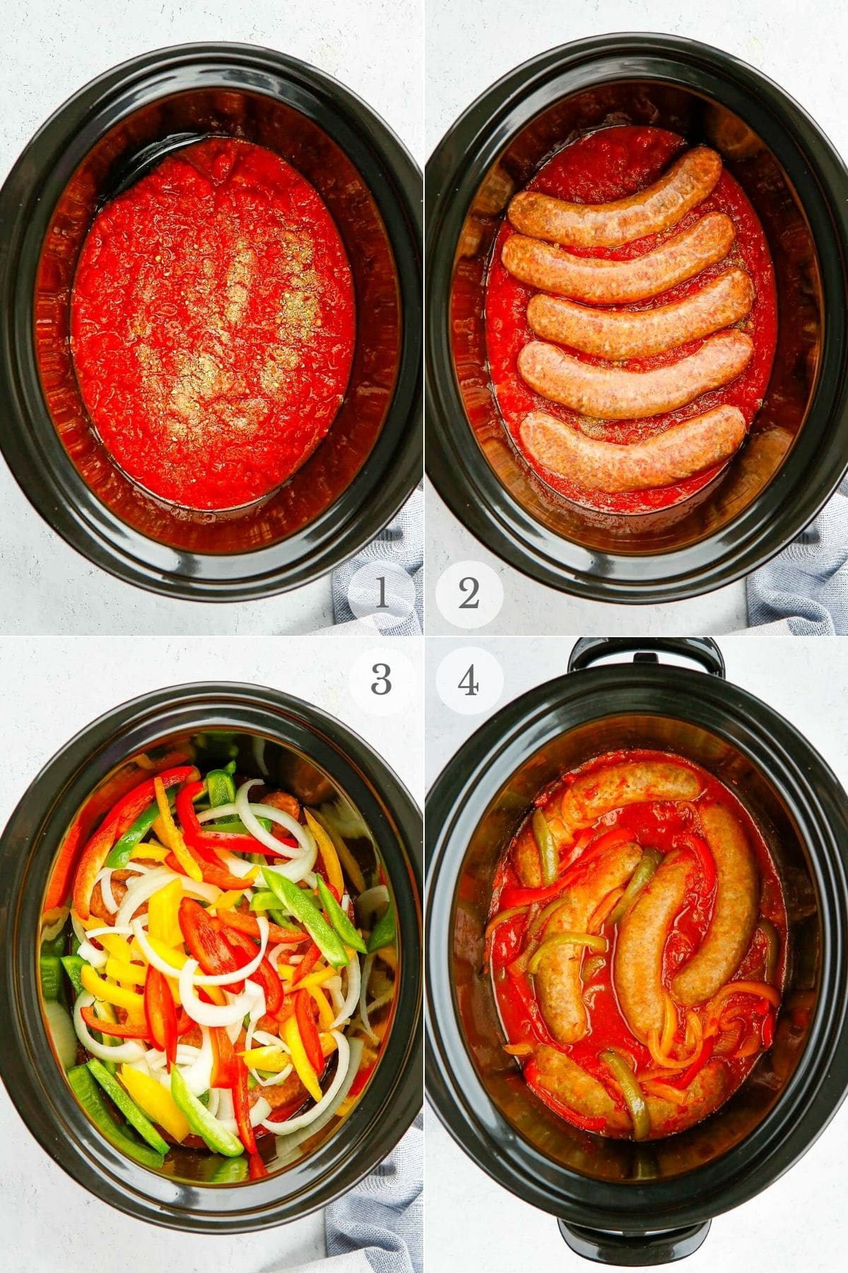 sausage and peppers recipe steps 1-4
