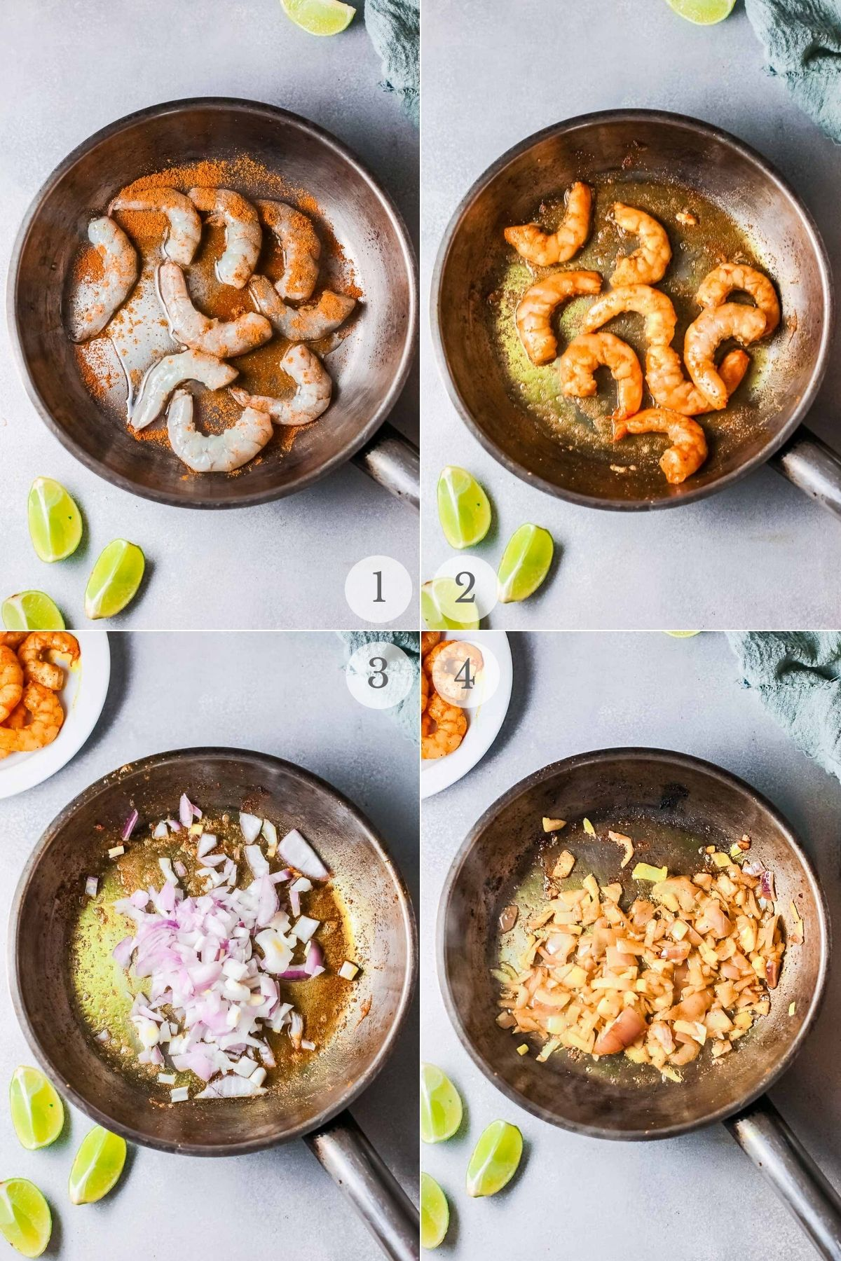 shrimp curry recipe steps 1-4