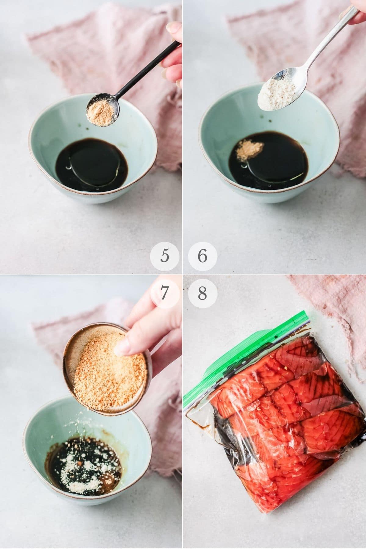 teriyaki salmon recipes steps 5-8