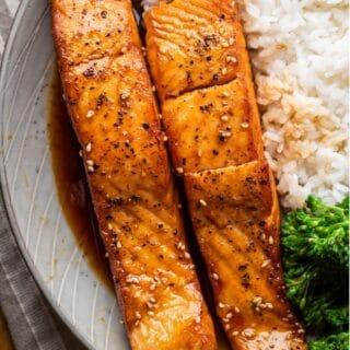 teriyaki salmon title image