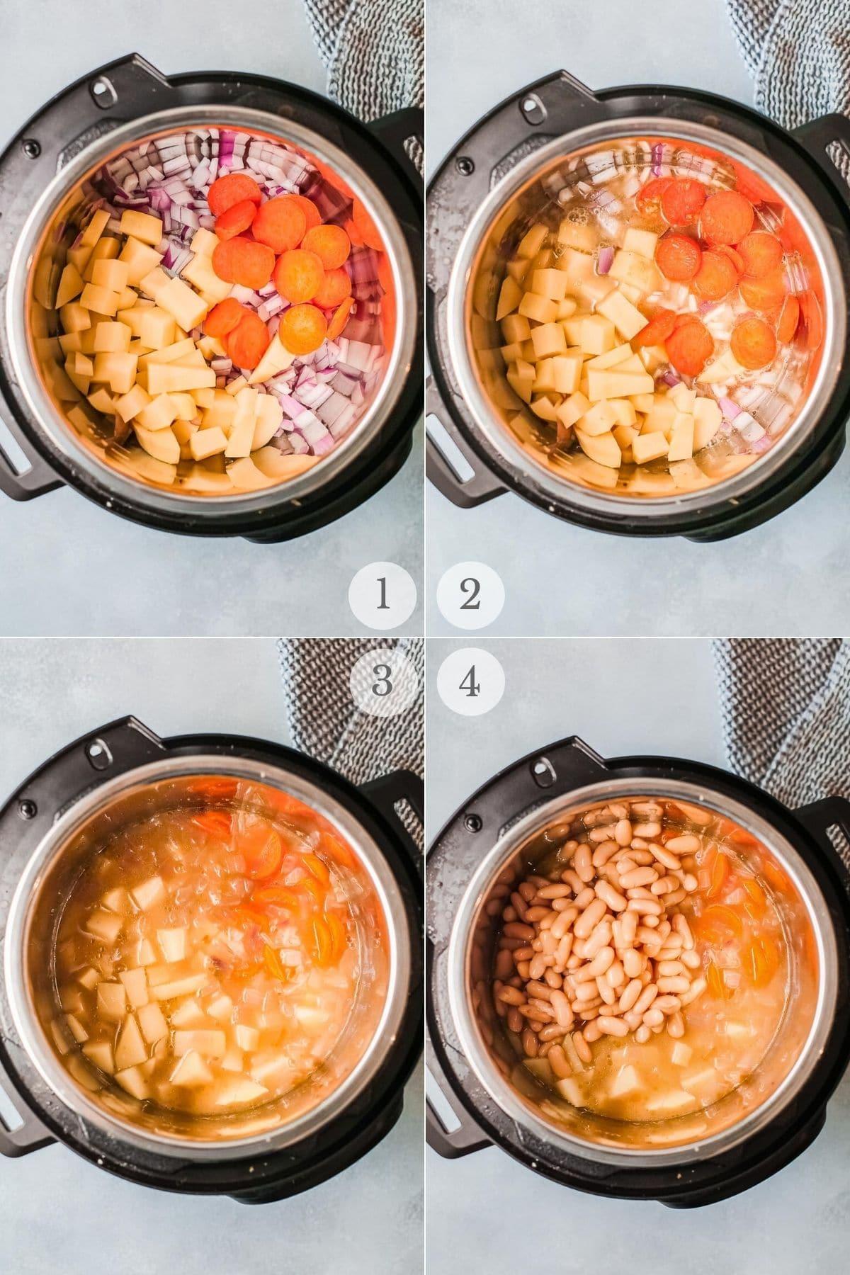 white bean soup recipe steps 1-4