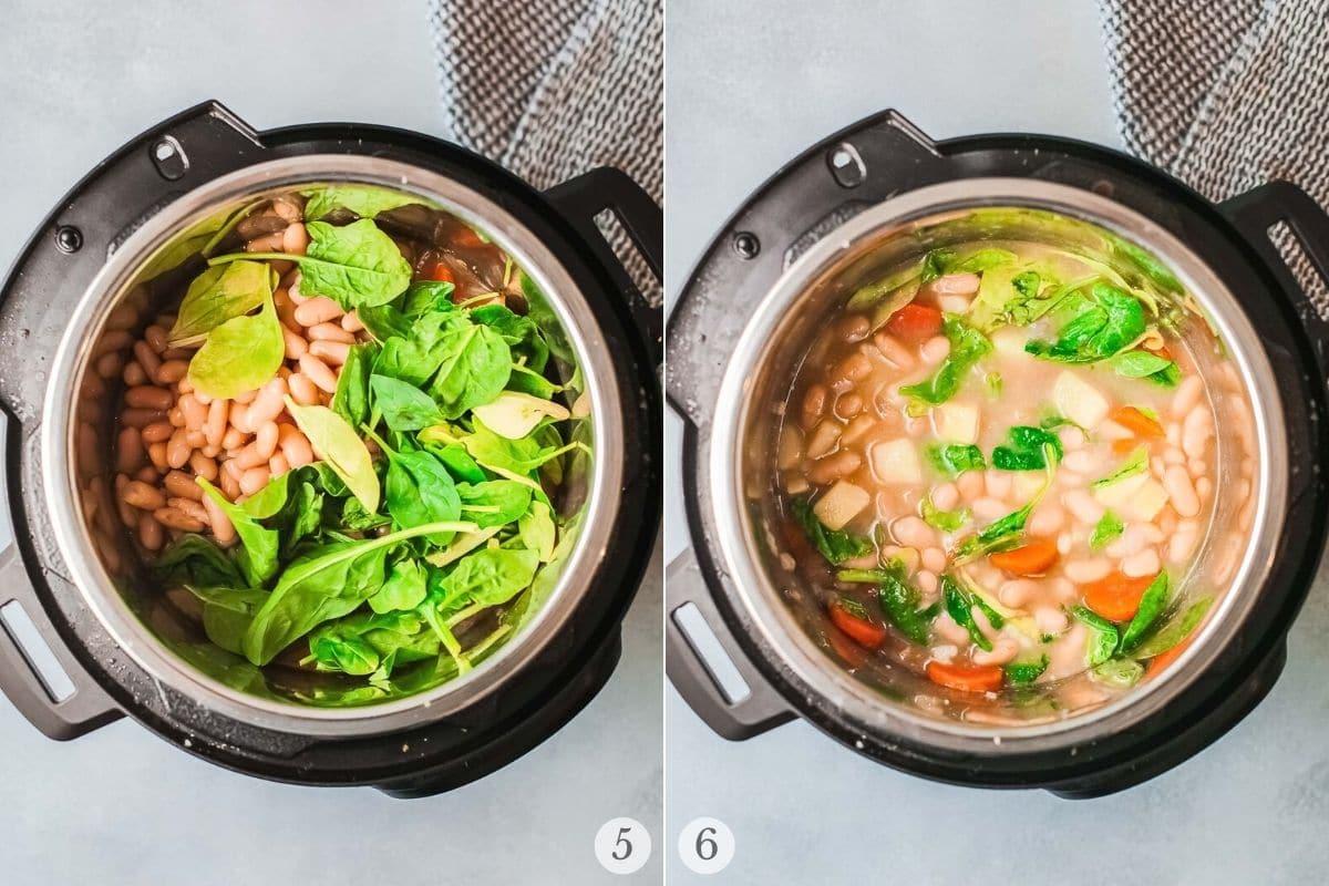 white bean soup recipe steps 5-6