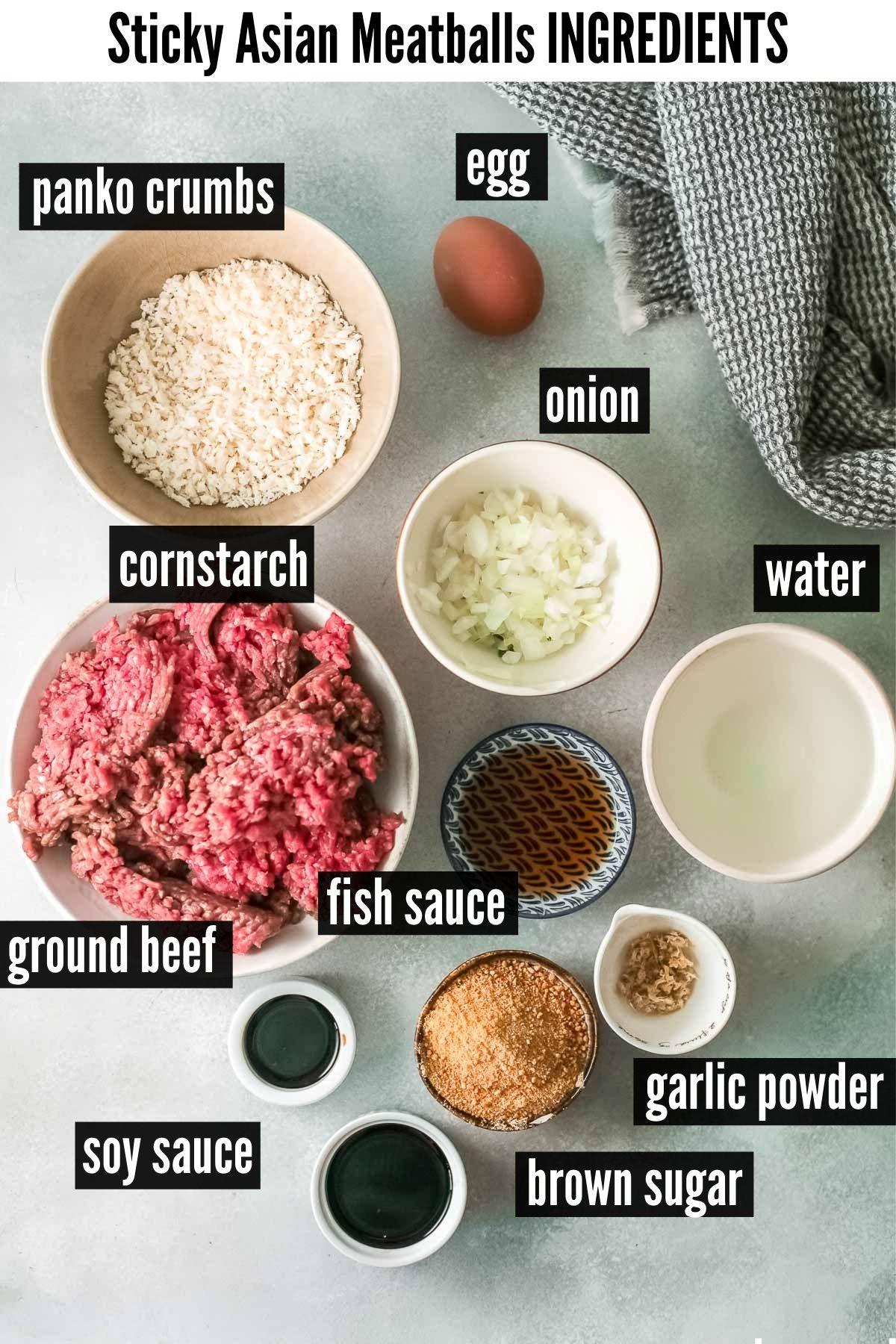asian meatballs ingredients