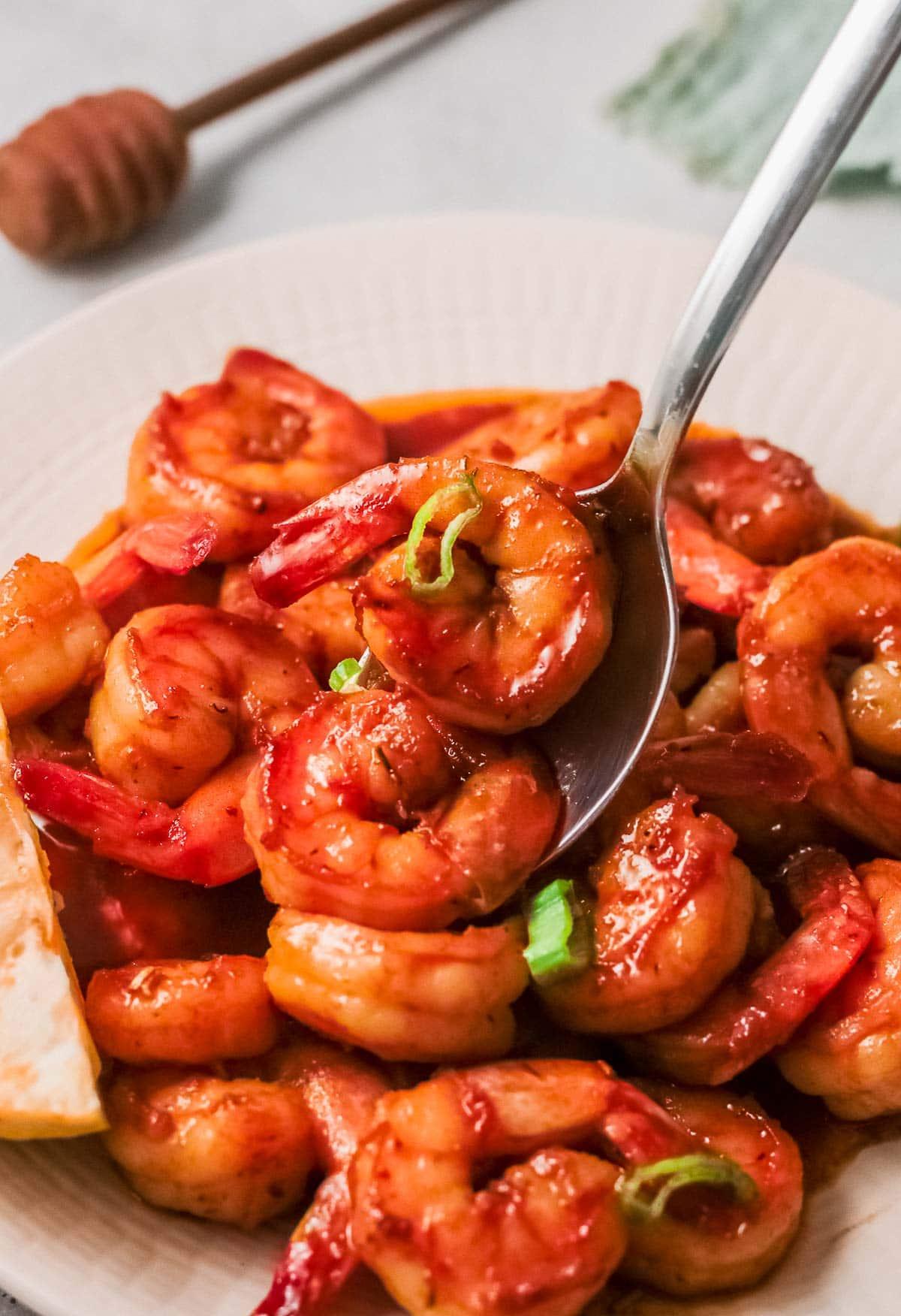 cajun shrimp on plate