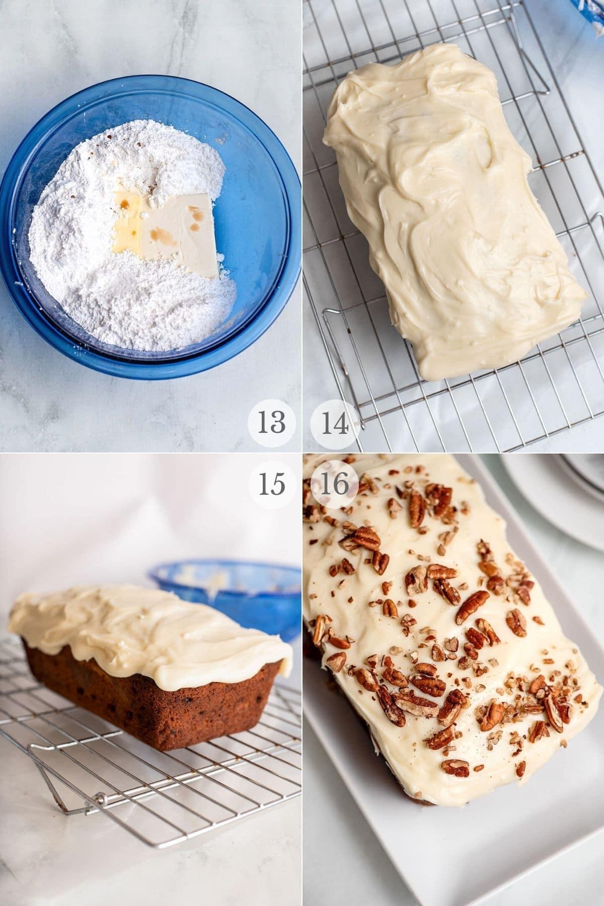 carrot loaf cake recipe steps 13-16