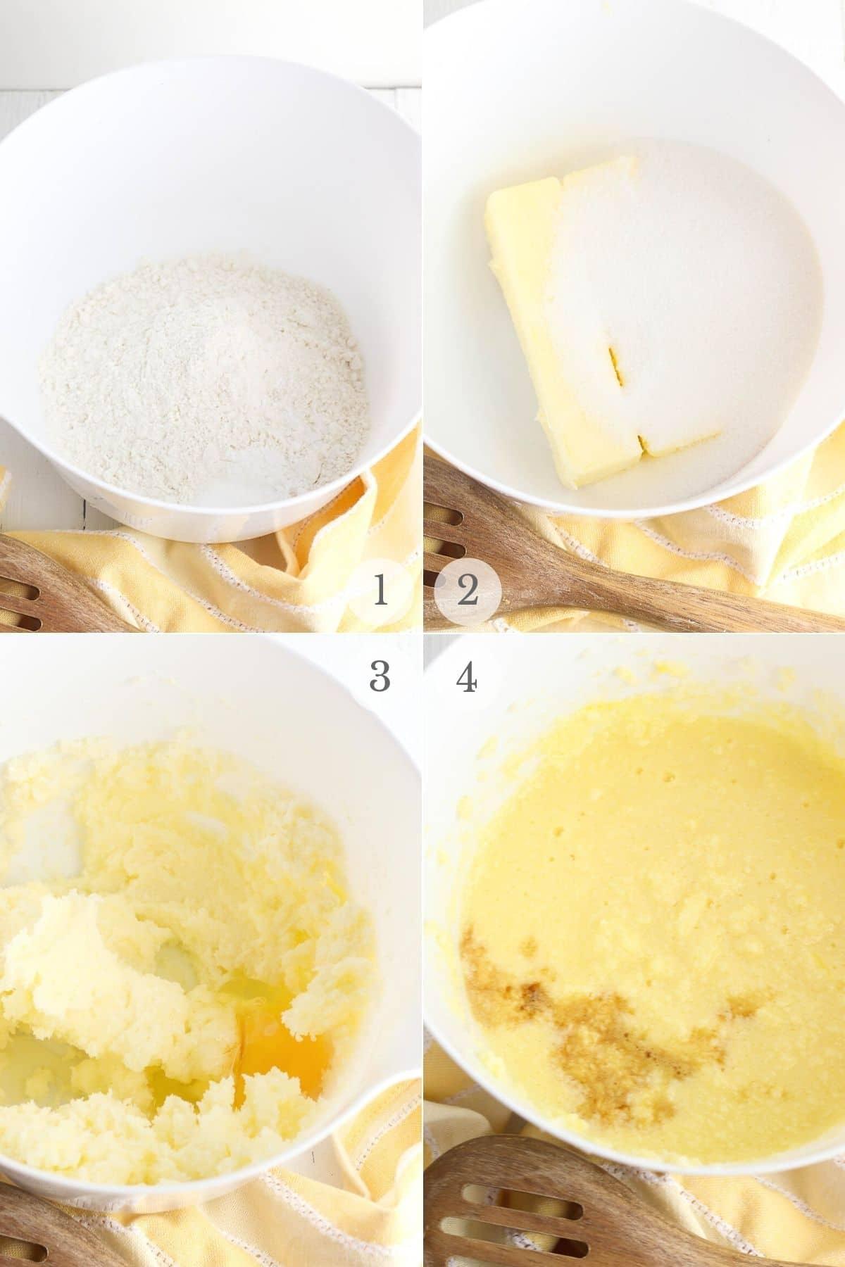 lemon blueberry muffins recipe steps 1-4