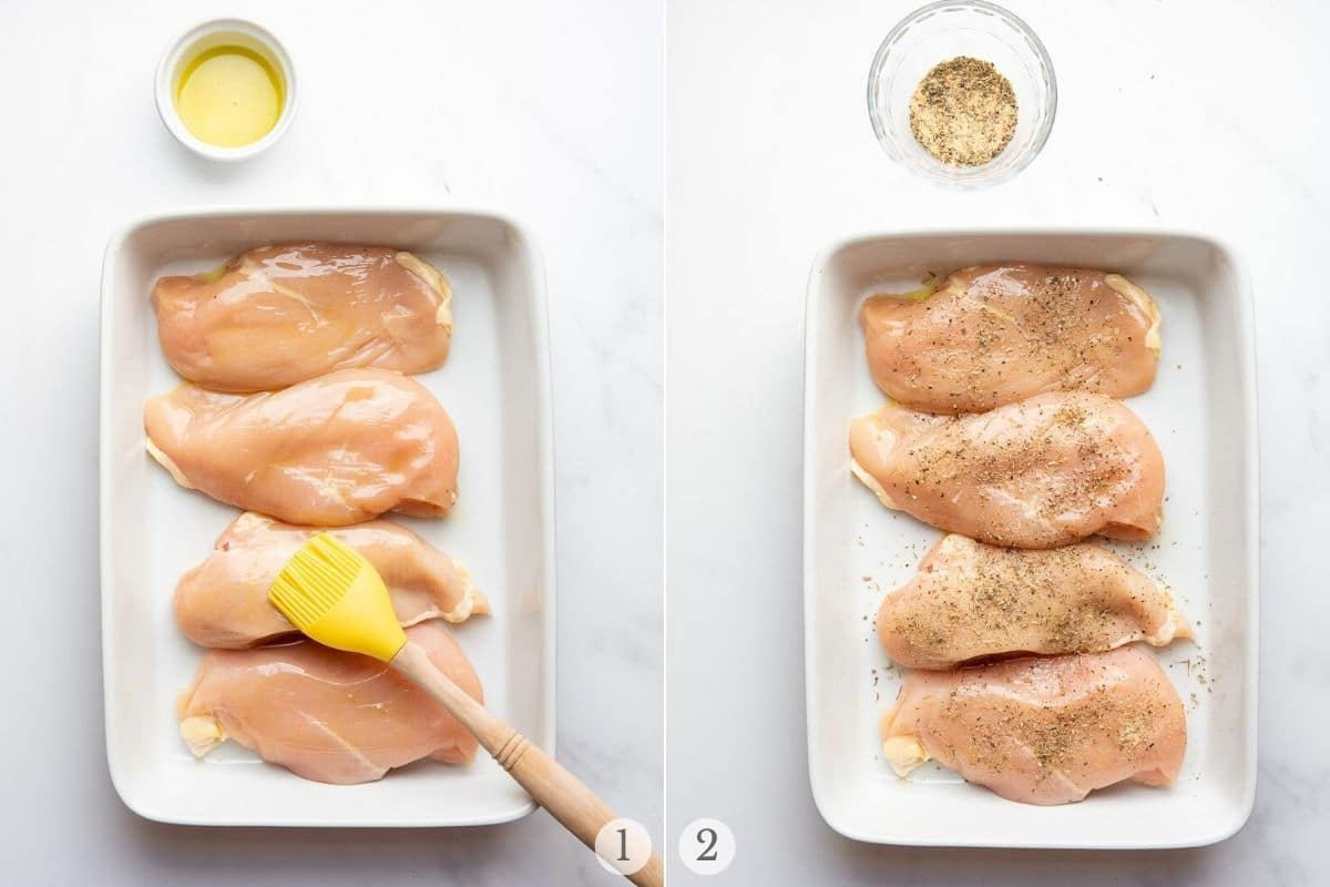 mozzarella chicken recipe steps 1-2