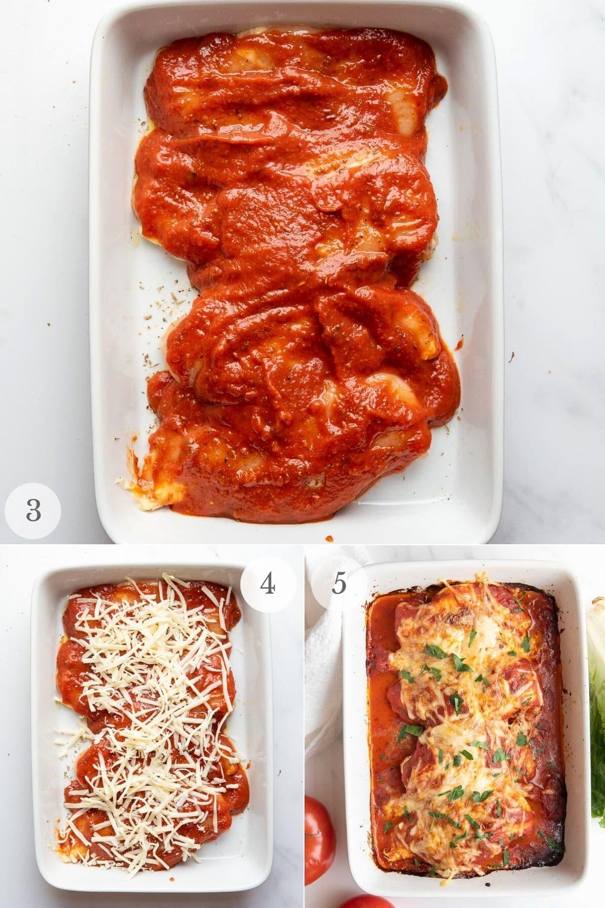 mozzarella chicken recipe steps 3-5
