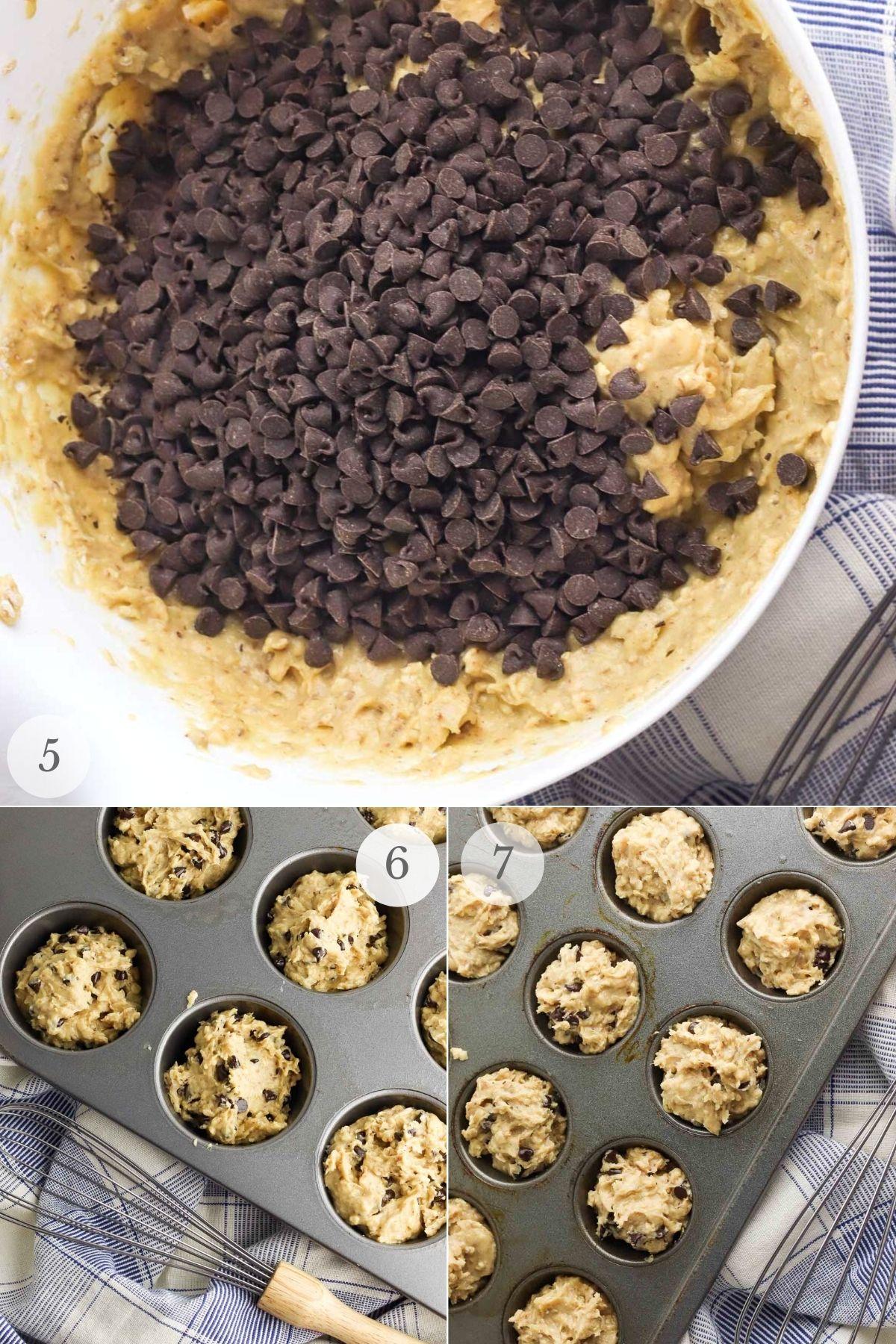 peanut butter banana muffins recipe steps 5-7