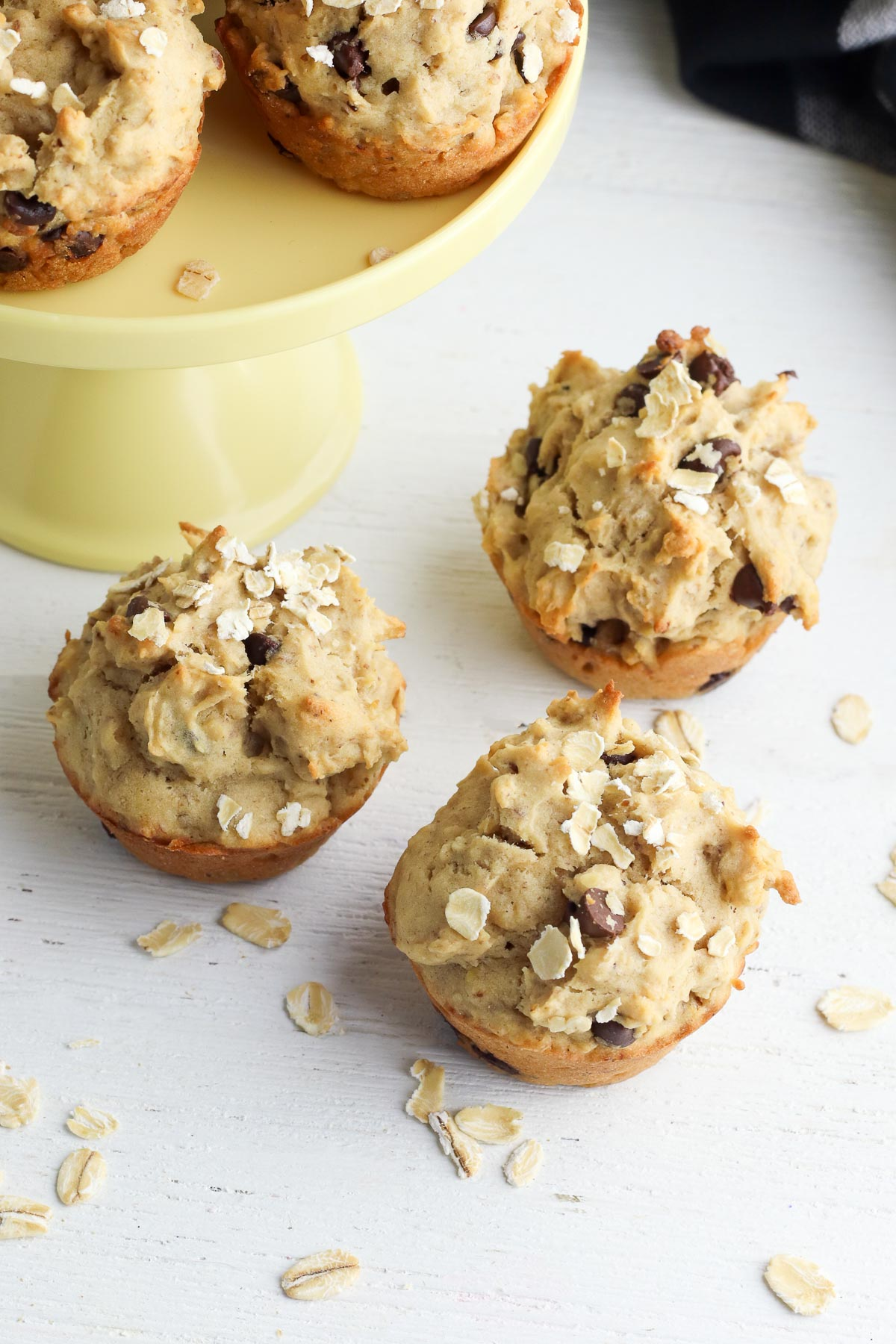 peanut butter banana muffins three