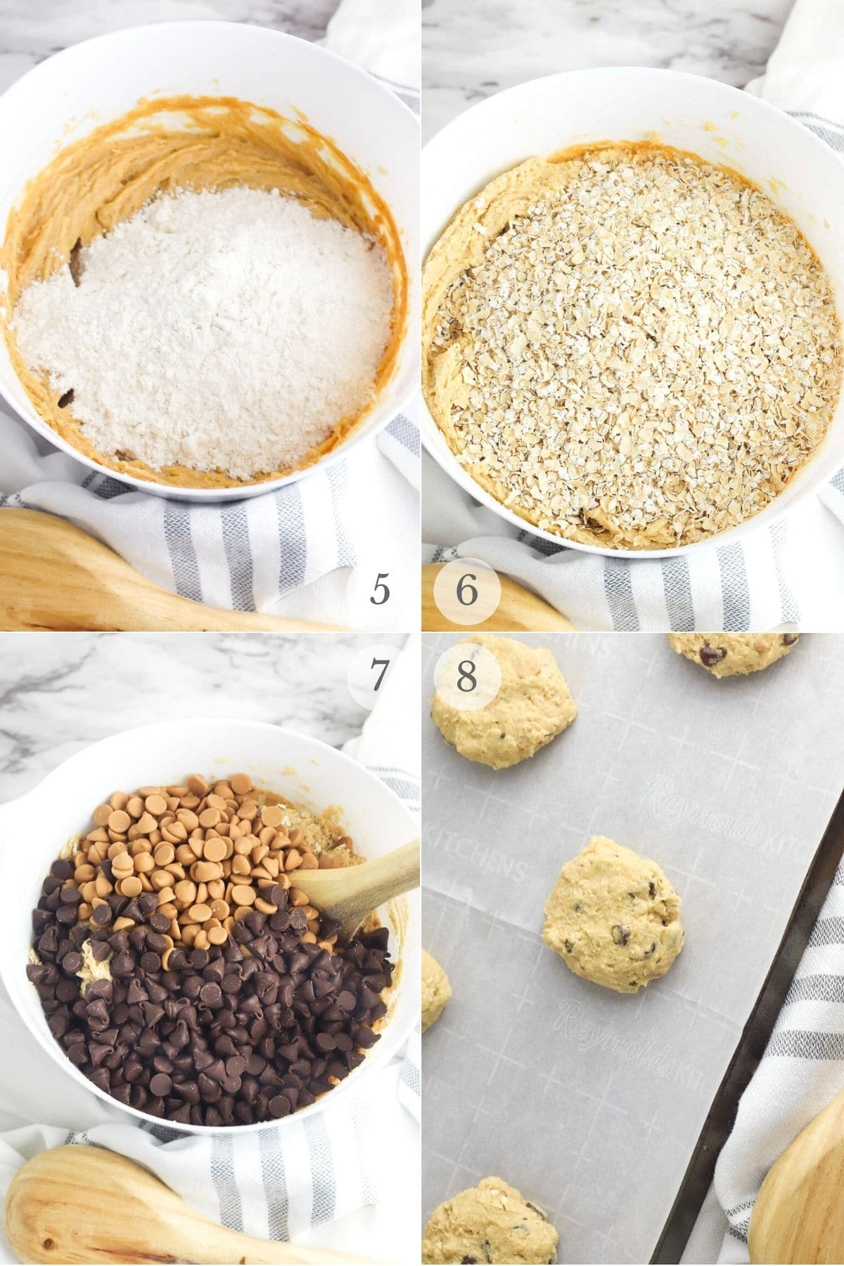 peanut butter chocolate chip cookies recipe steps 5-8