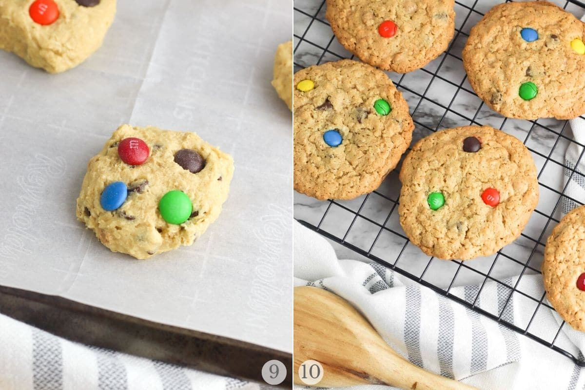 peanut butter chocolate chip cookies recipe steps 9-10